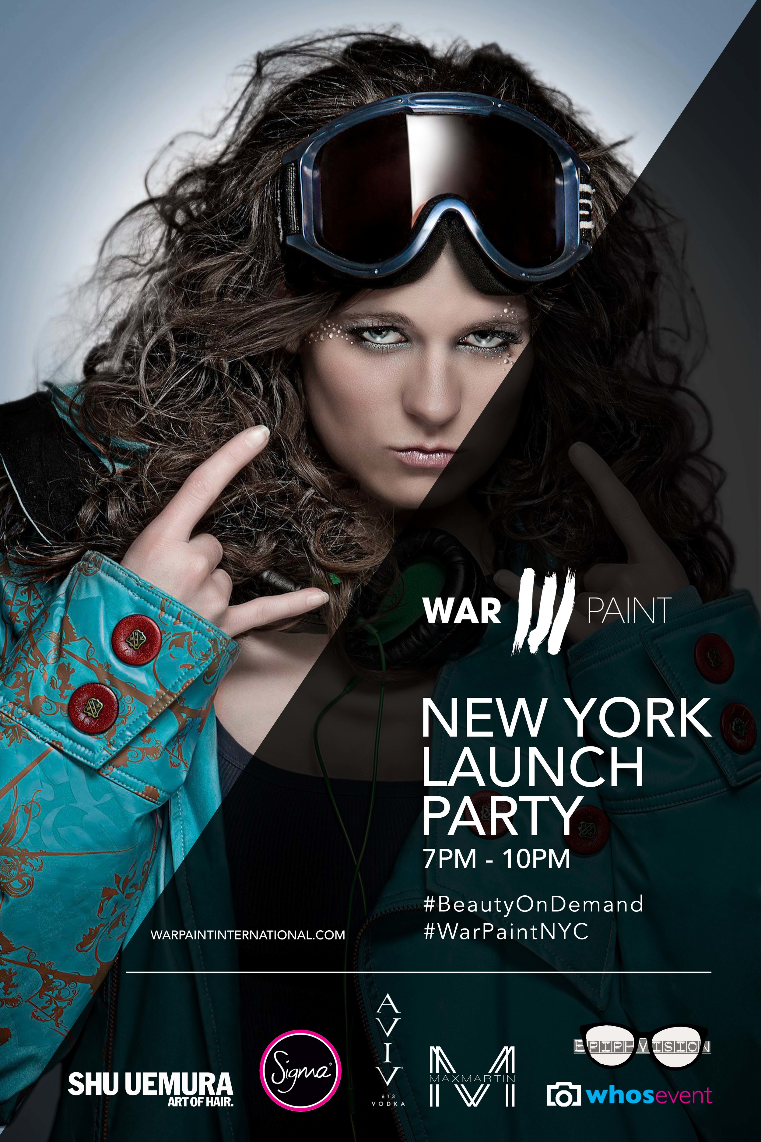 WarPaint International Launch Party. Hair & Makeup Artists in New York City.