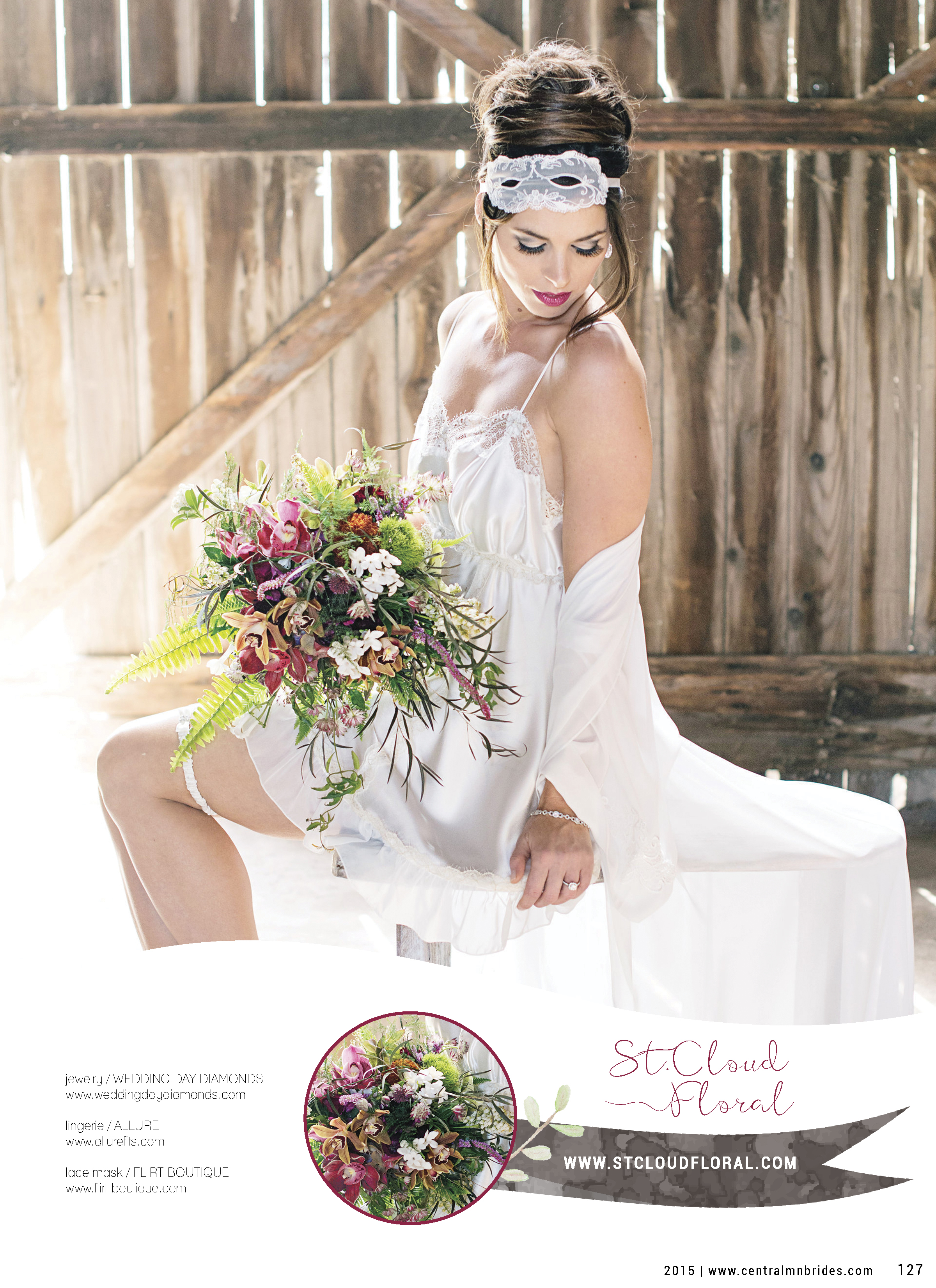 Naked Cakes & Floral Boudoir Editorial