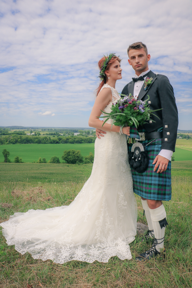 Celtic Wedding Hair & Makeup