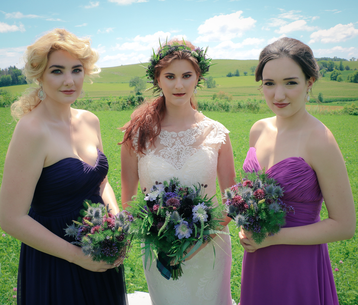 Celtic Wedding Makeup & Hair