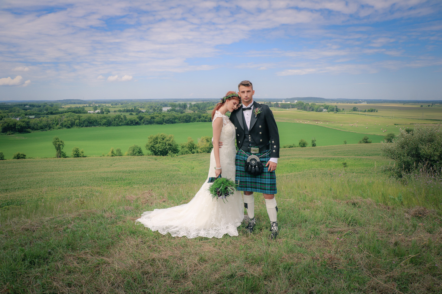 Celtic Wedding Hair and Makeup