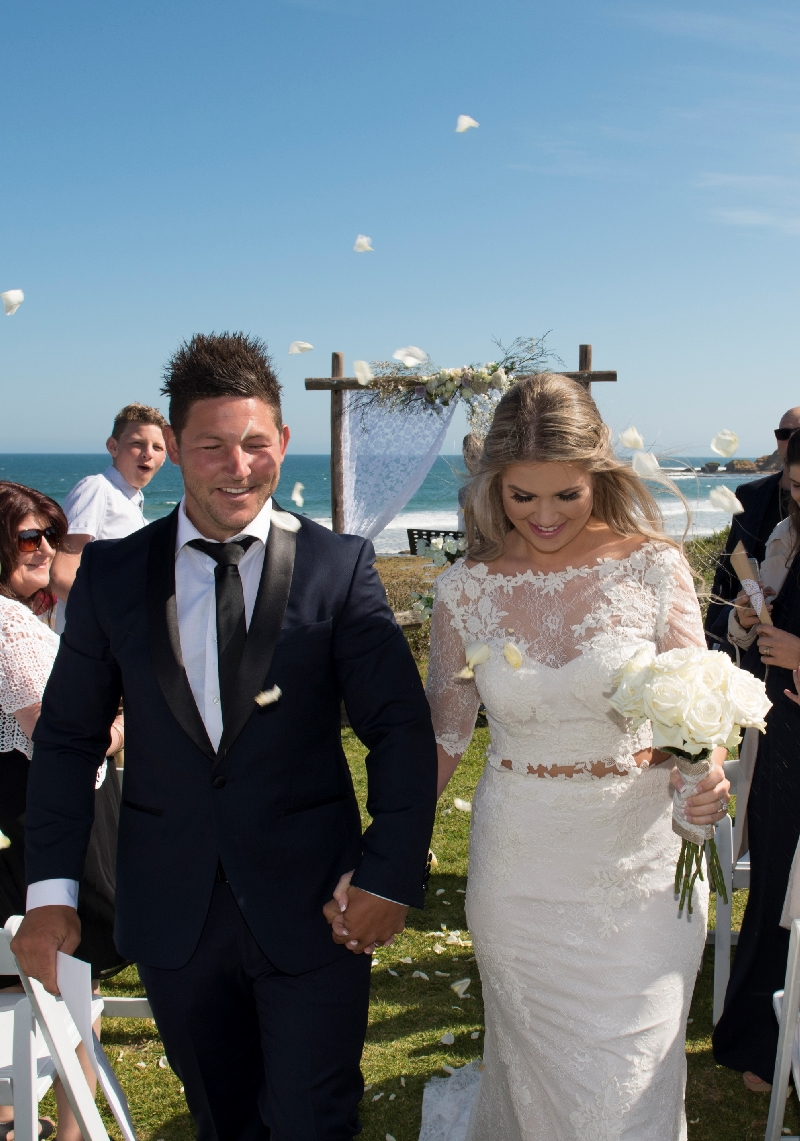 Real Wedding Submission. Tanille and Jason's Beautifully Rustic Beachside Wedding.