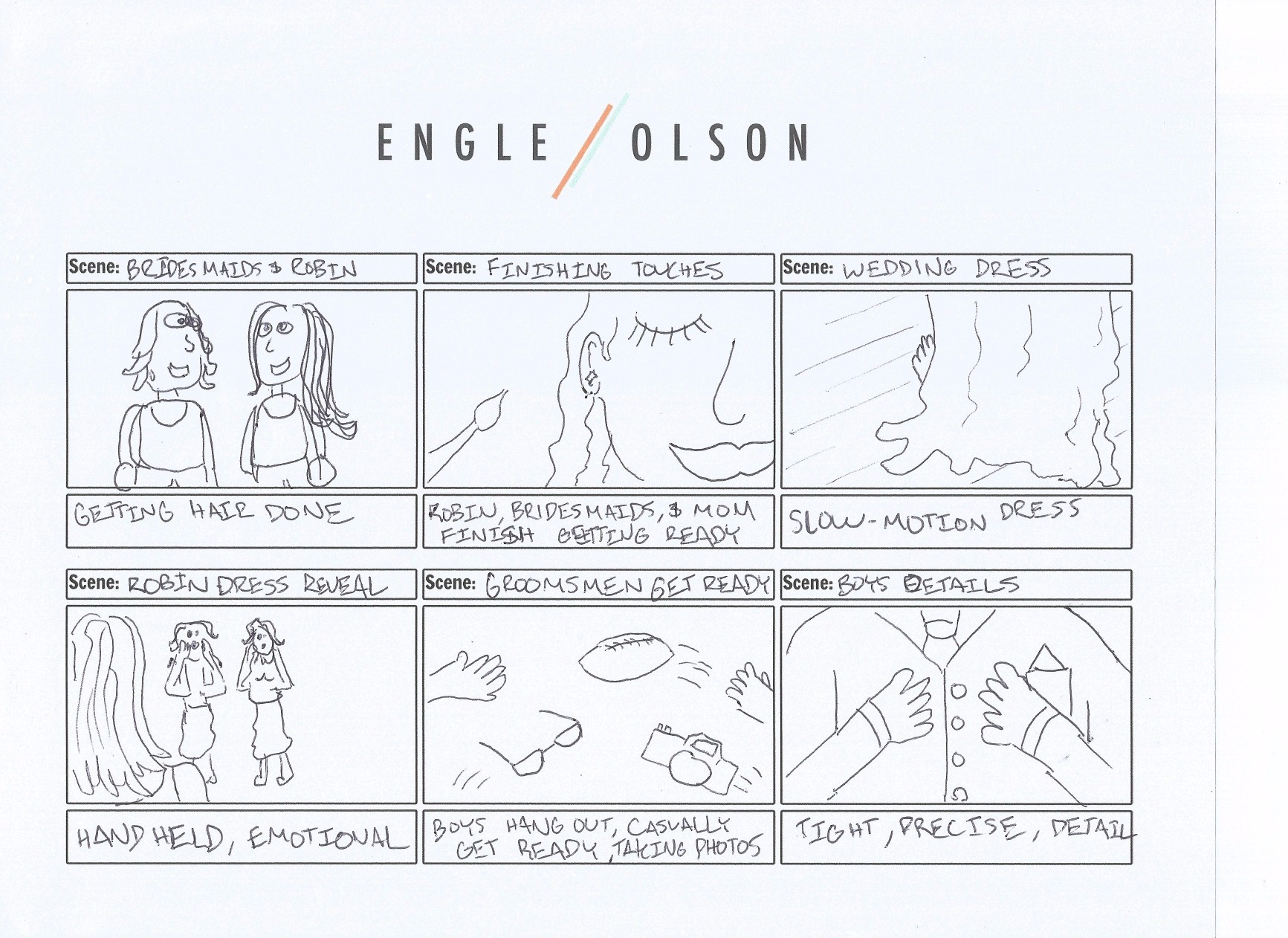 The Bride Experience: Storyboard 3