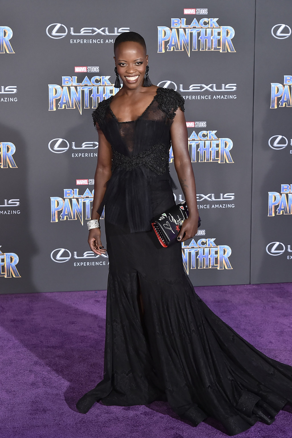 Florence Kasumba on the Red Carpet. Image Source:  Black America Web
