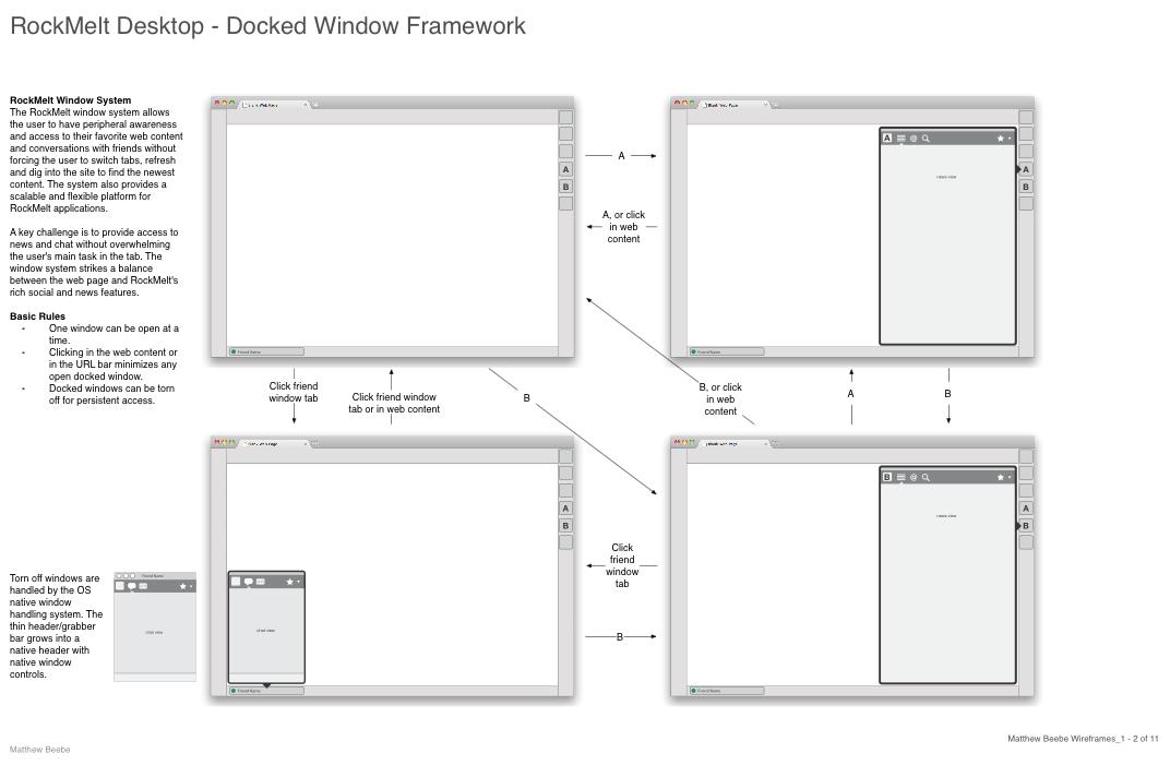RockMelt windows wireframe