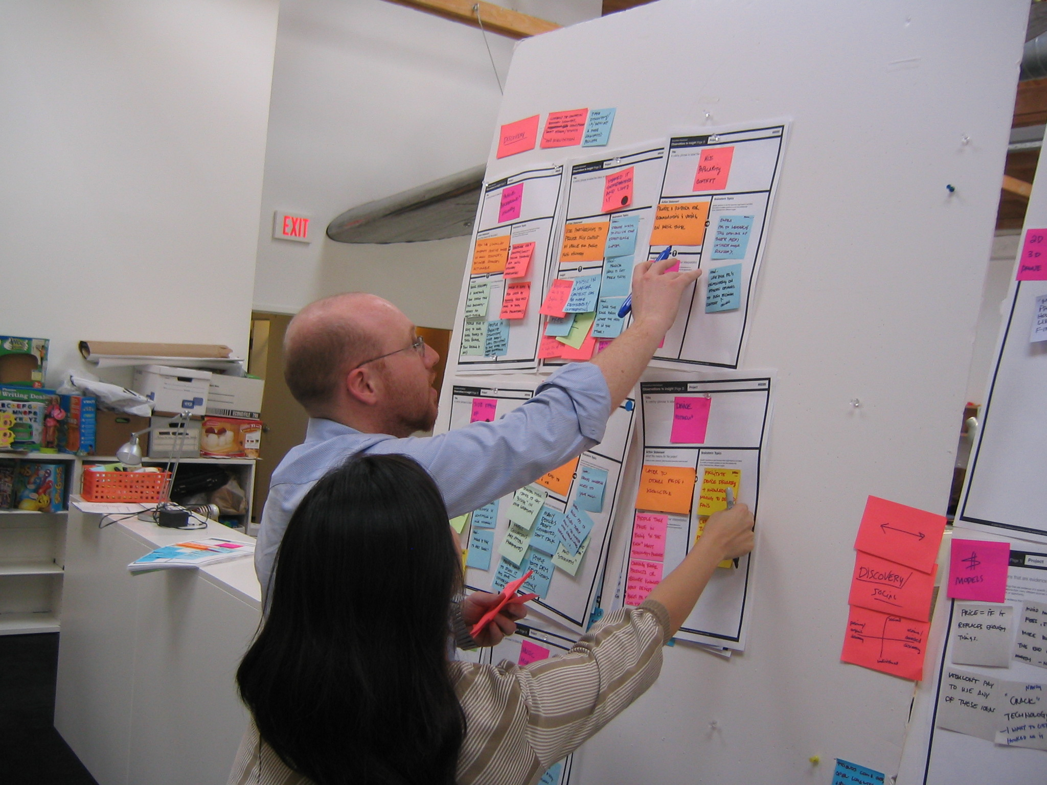 Teams use the worksheets to structure the information they generate during innovation projects.