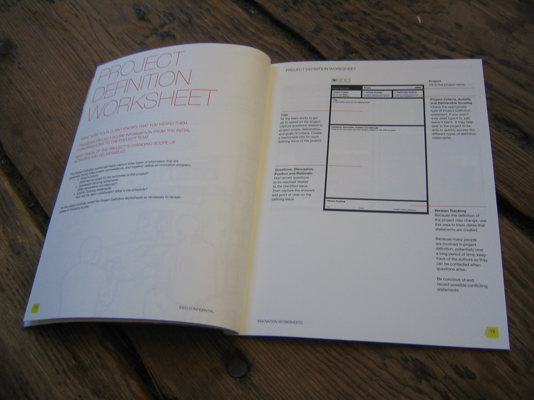 I produced this booklet to explain how I imagined the worksheets being used.