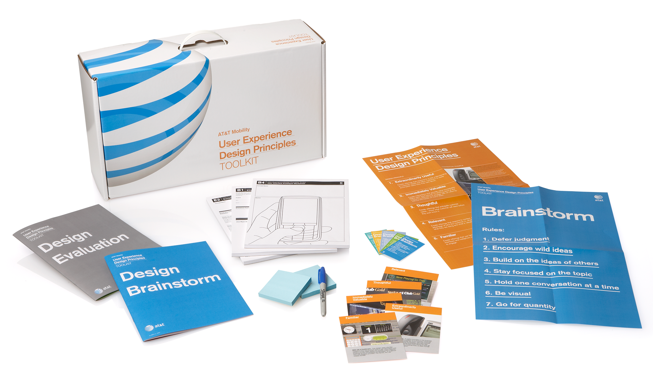These worksheets, guidelines and posters help AT&T run brainstorms and evaluate brainstorm ideas.