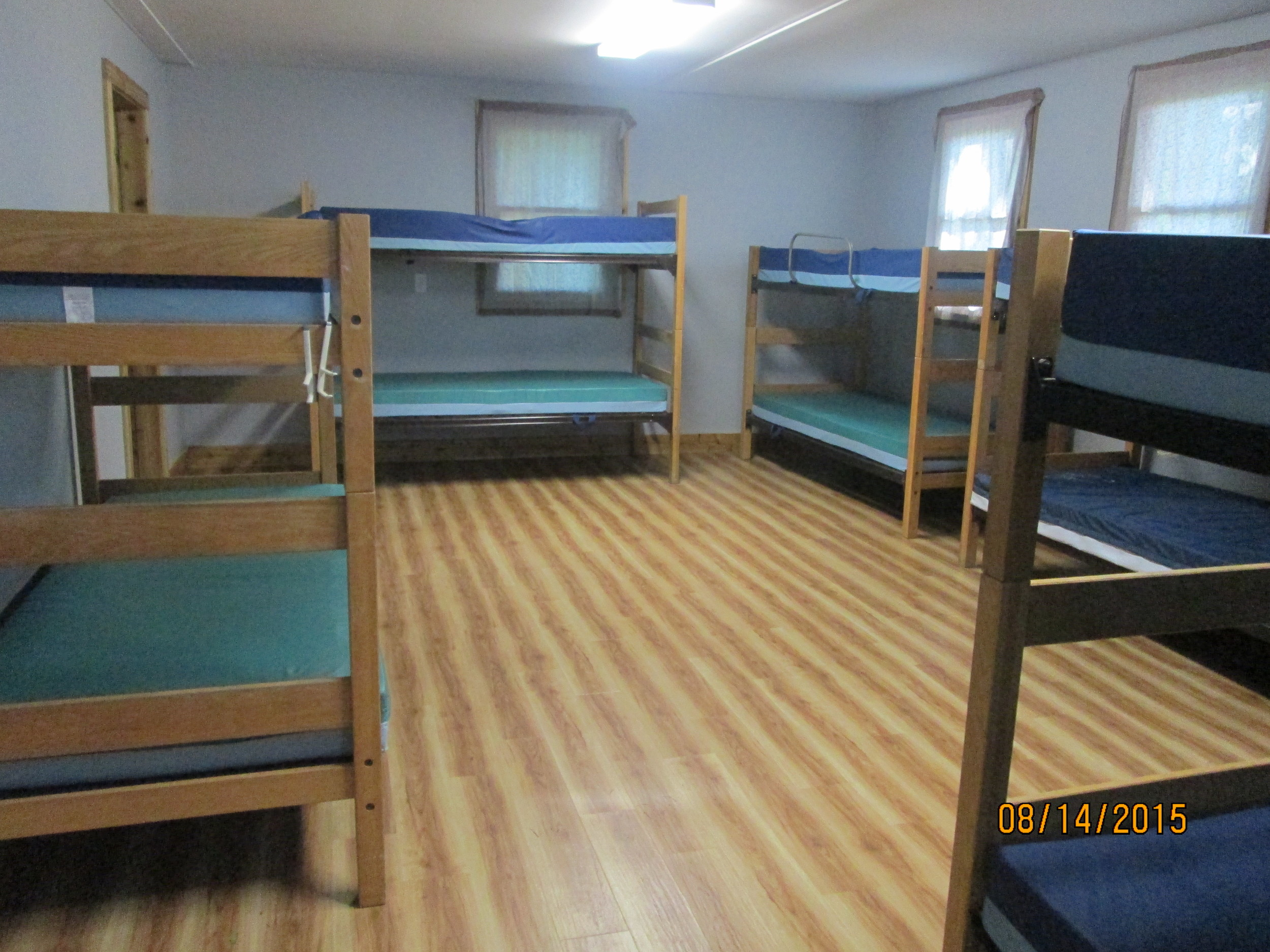 Example of cabins' newly remodeled bunk rooms.