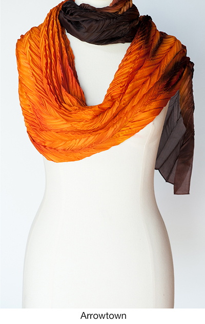 Arrowtown silk scarves and wraps by artist Jean Carbon in Raglan New Zealand