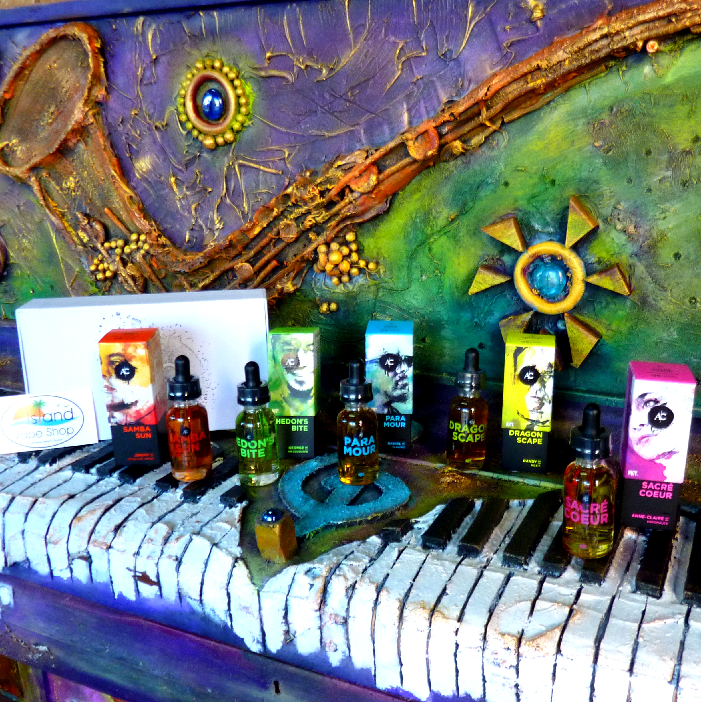 island_vape_shop_artist_collection_njoy_eliquid_clearwater_beach_njoyac_dragon_scape_sacre_coeur_paramour_hedons_bite_samba_sun.jpg