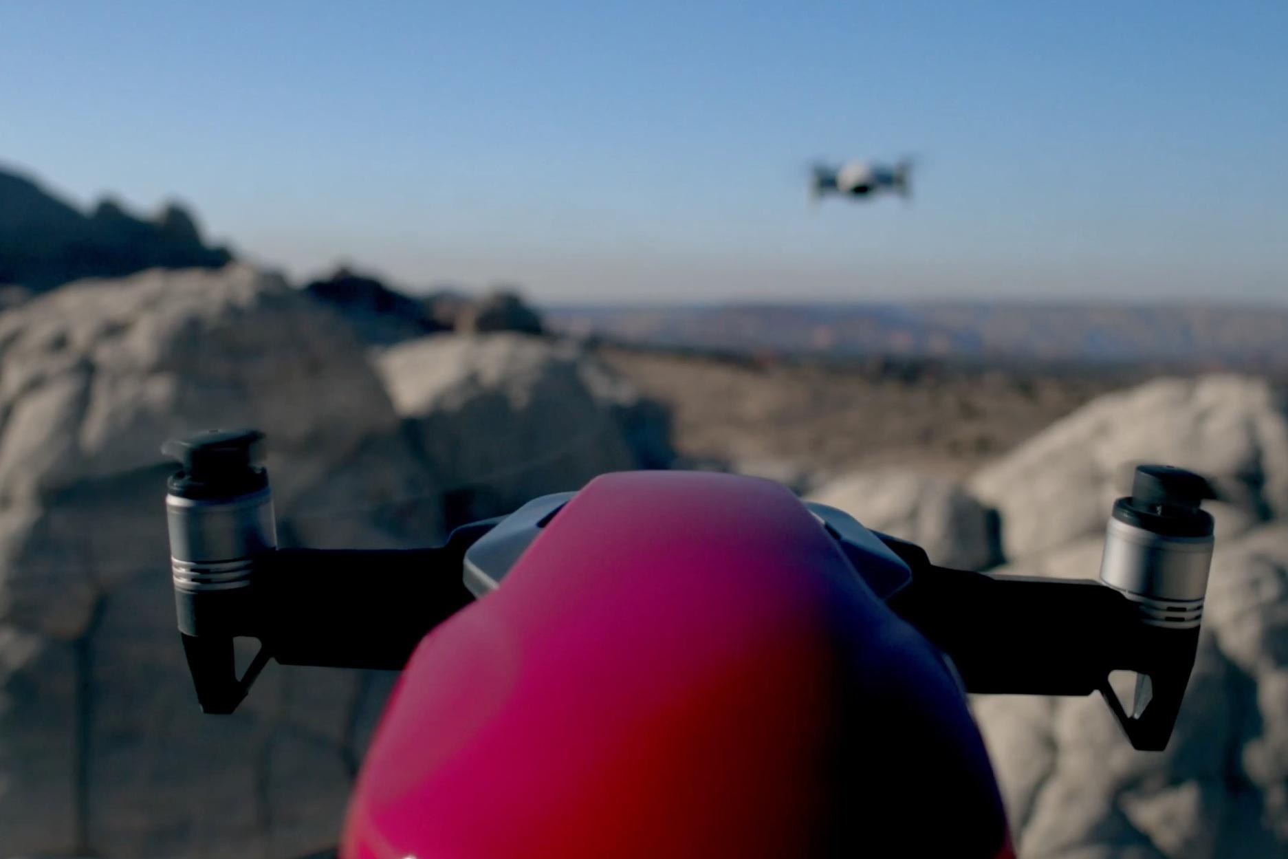 On camera drone -