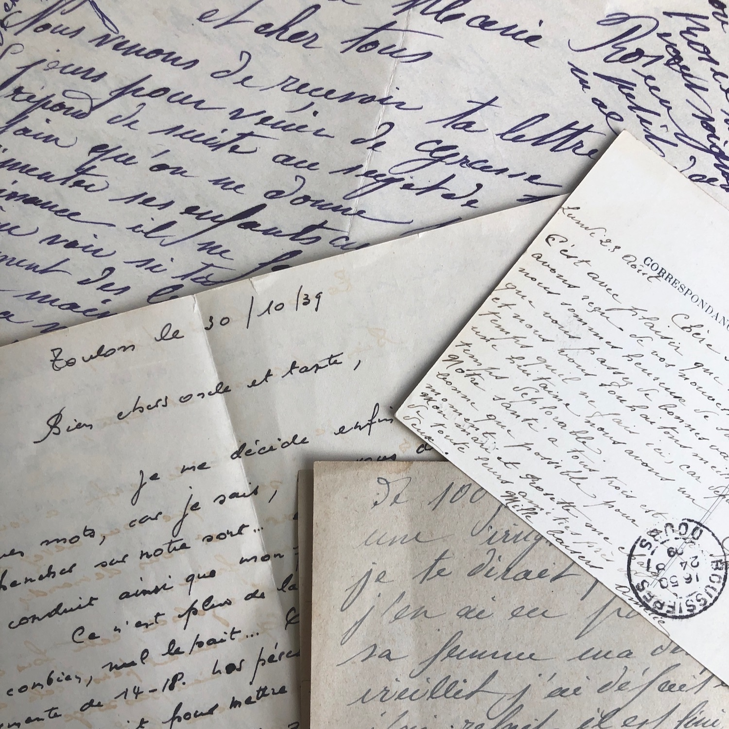 Reproduction of vintage hand written letters