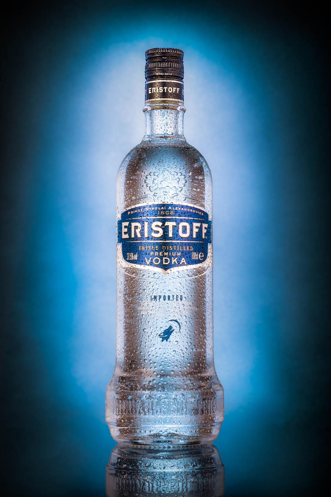 Eristoff vodka bottle