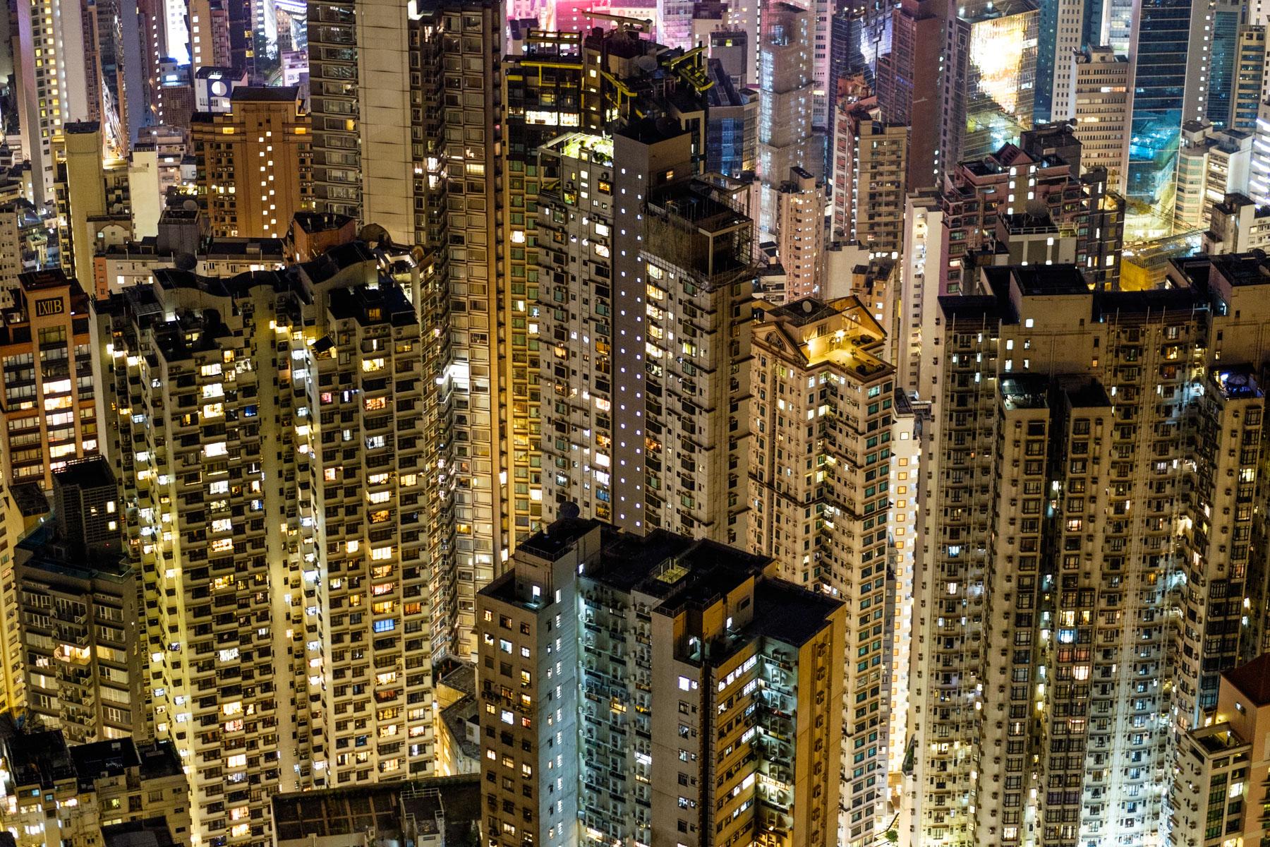 Hong Kong Island apartment buildings