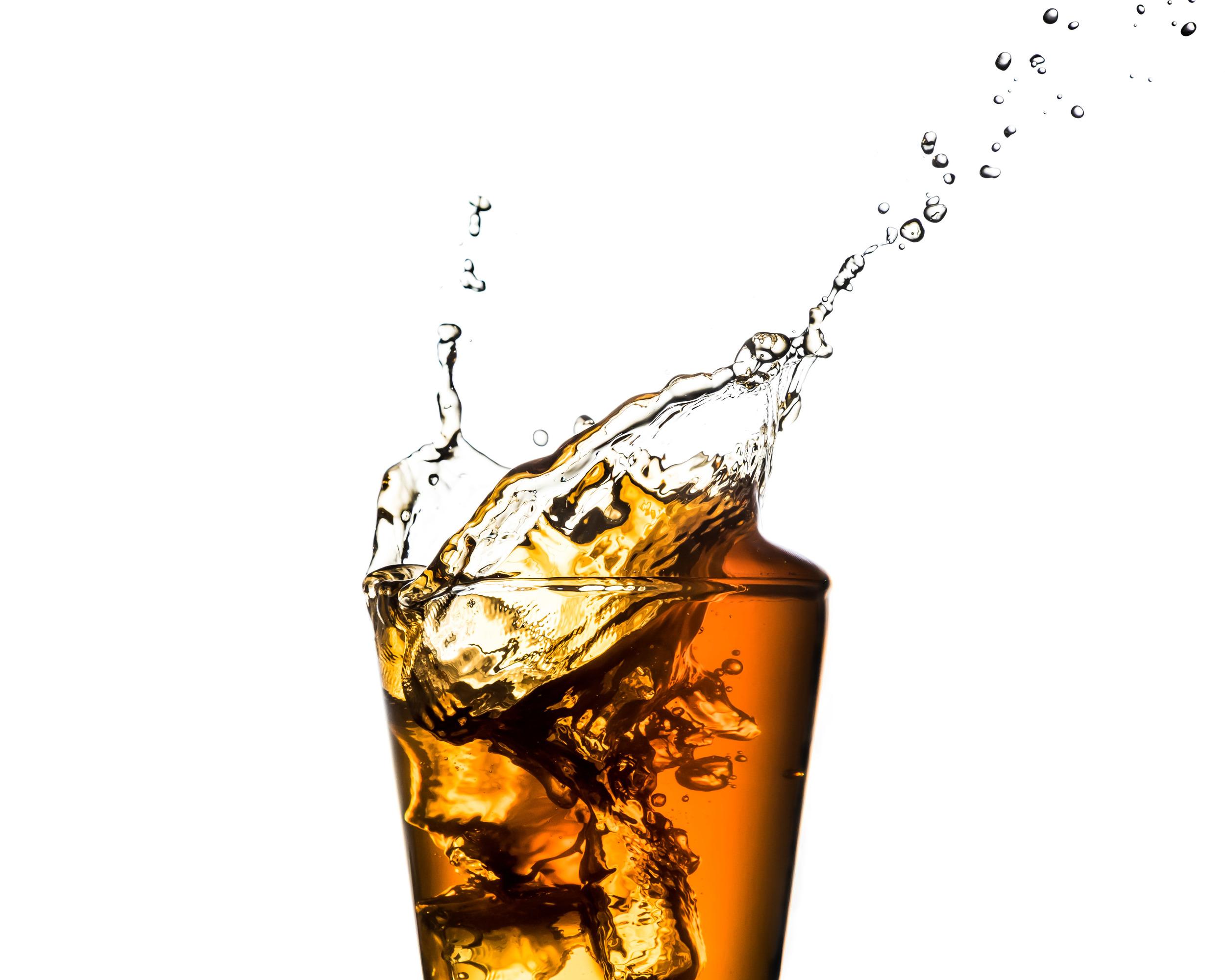 Ice tea splash