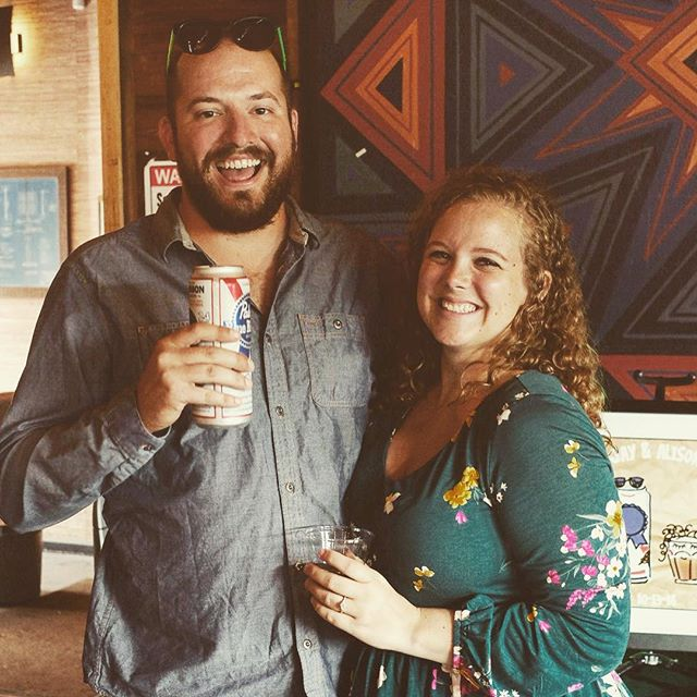 SHOT & A TALL BOY ❤️🥃🍺 - Thanks to everyone who came to celebrate @screaminjay & @_alisonw519 today!! We love you guys-can't wait to celebrate in a month 🍻🍻🍻