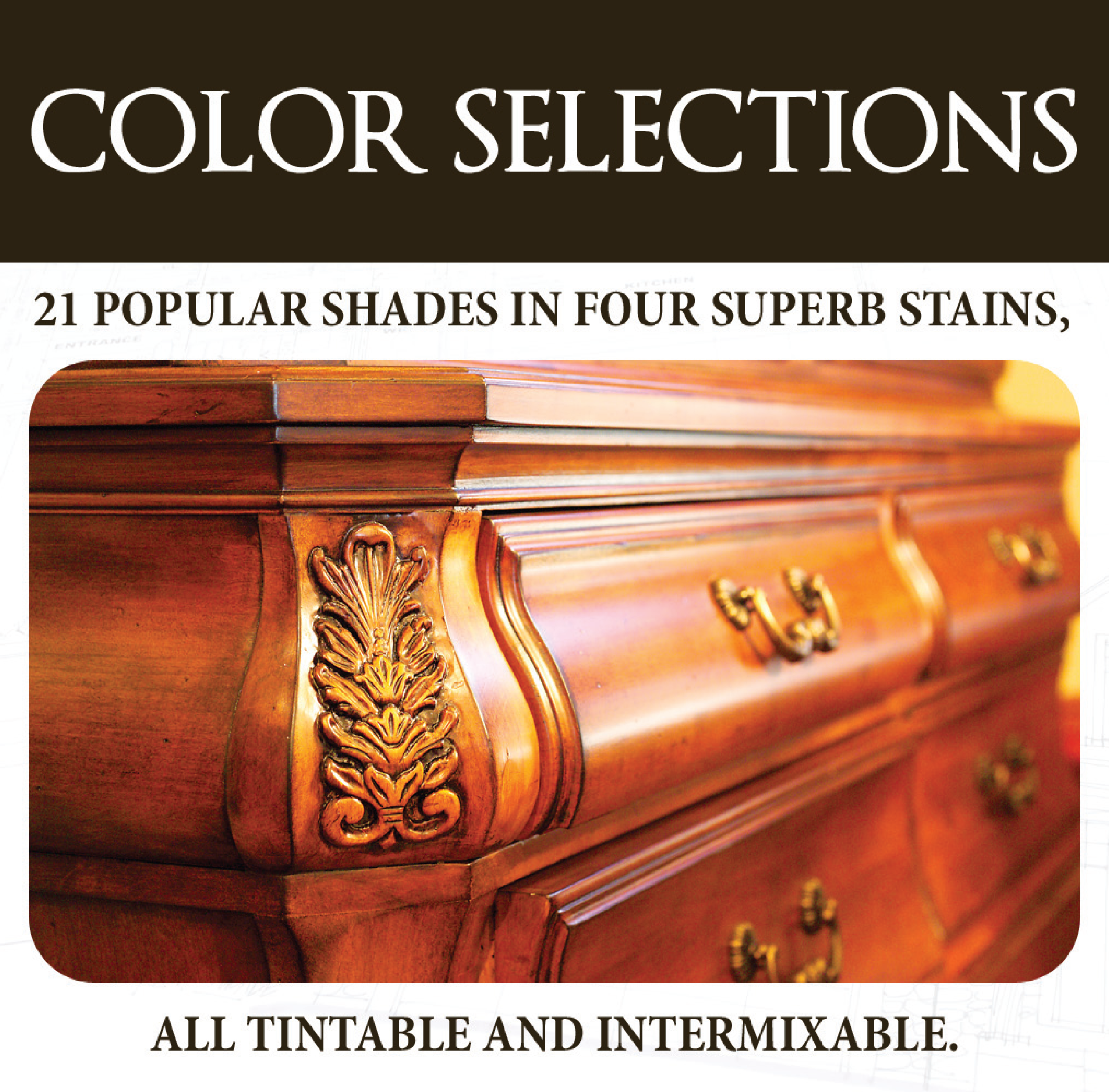 Click to view thePenetrating, Wiping and Gel Stain Colour Guide.