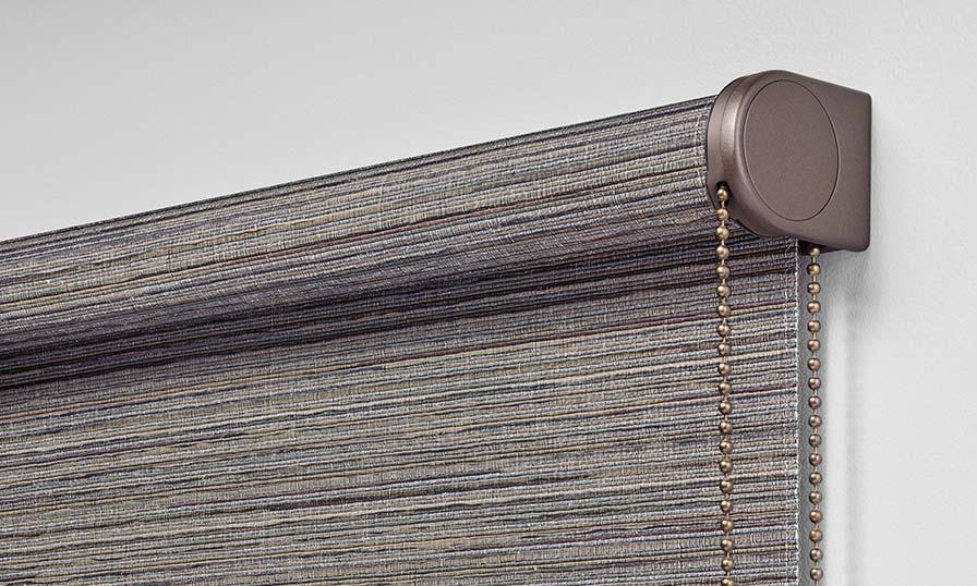 Fabric: Origins, Colour: Slate, Clutch Finish: Bronze Shimmer