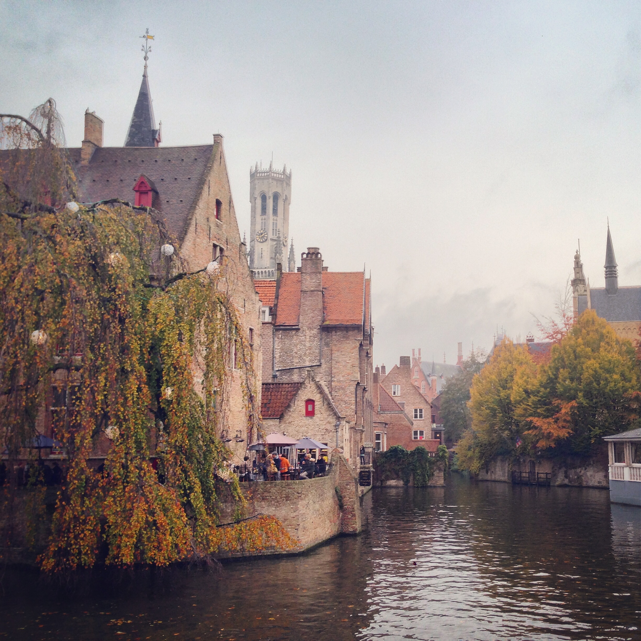 Mysterious, medieval Brugge with its canals andold winding streets
