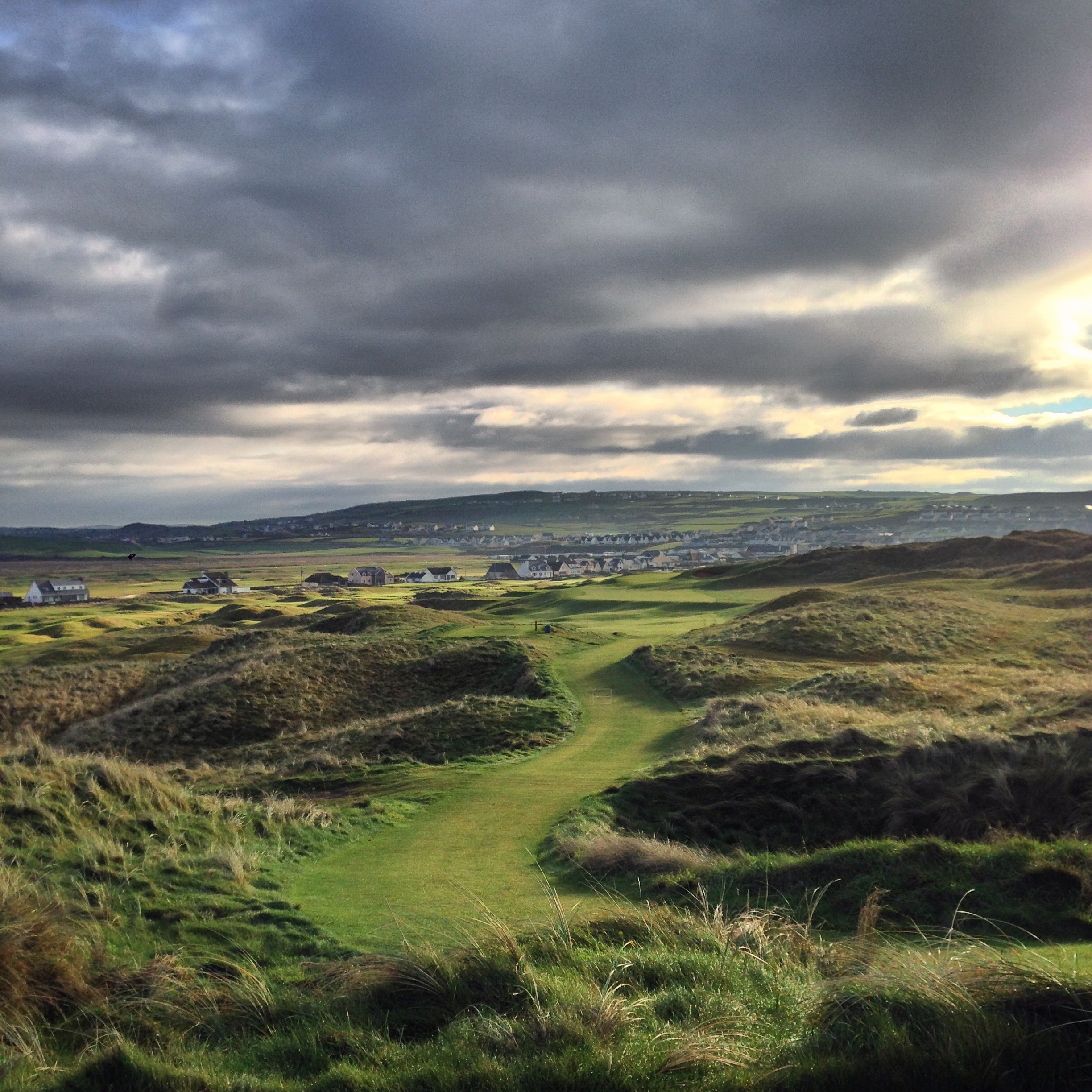 Possibly both mybest hole and best photo of 2014, the 9th at Lahinch.