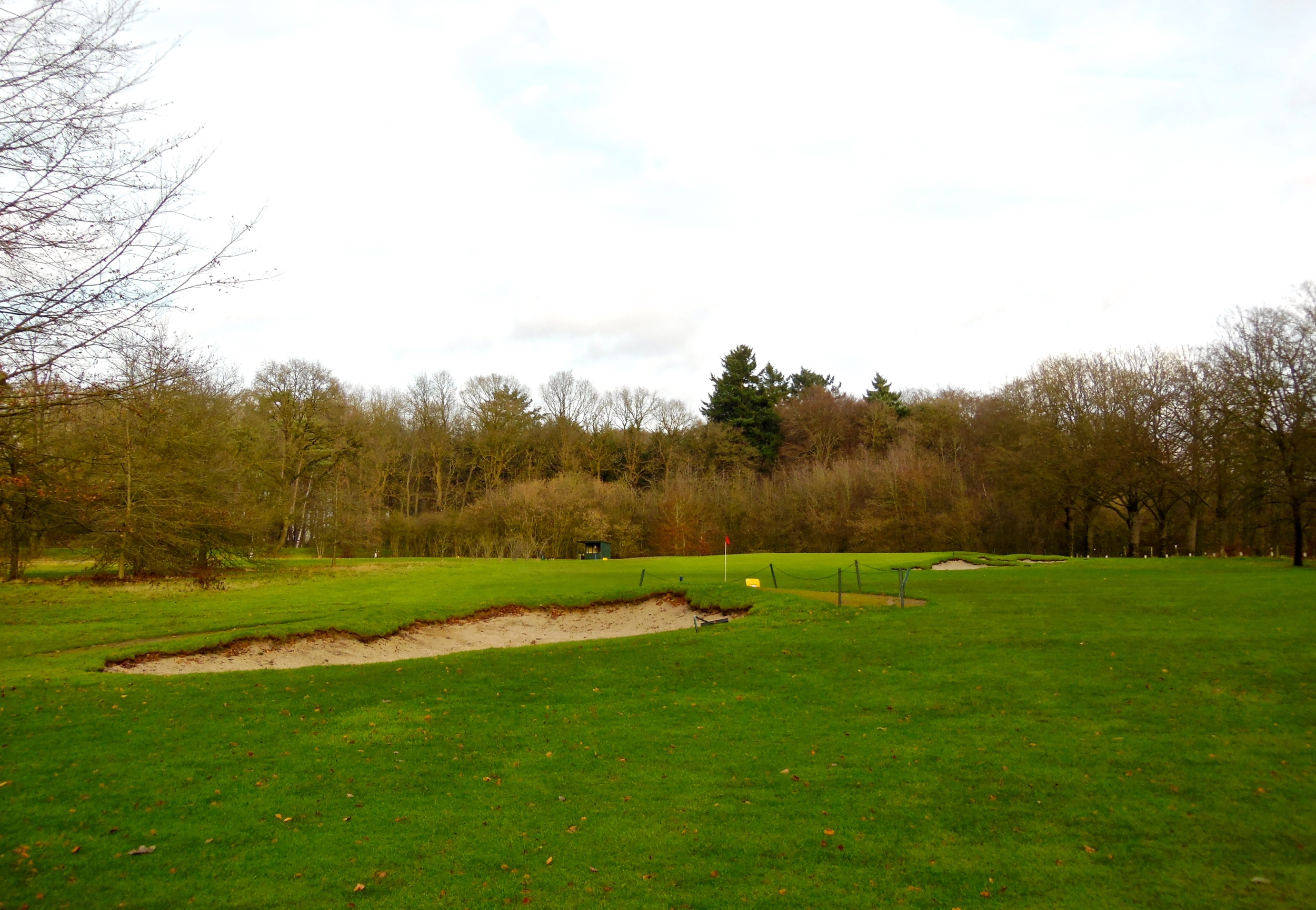 This image shows how the ideal angle of approach is guarded by this bunker in the ridge.