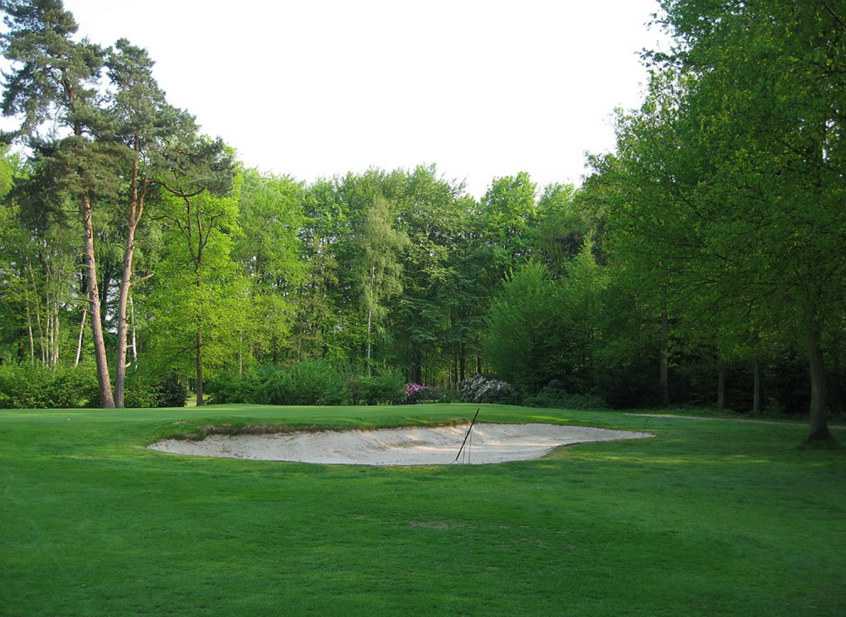 A close up view of the old 9th hole bunker.