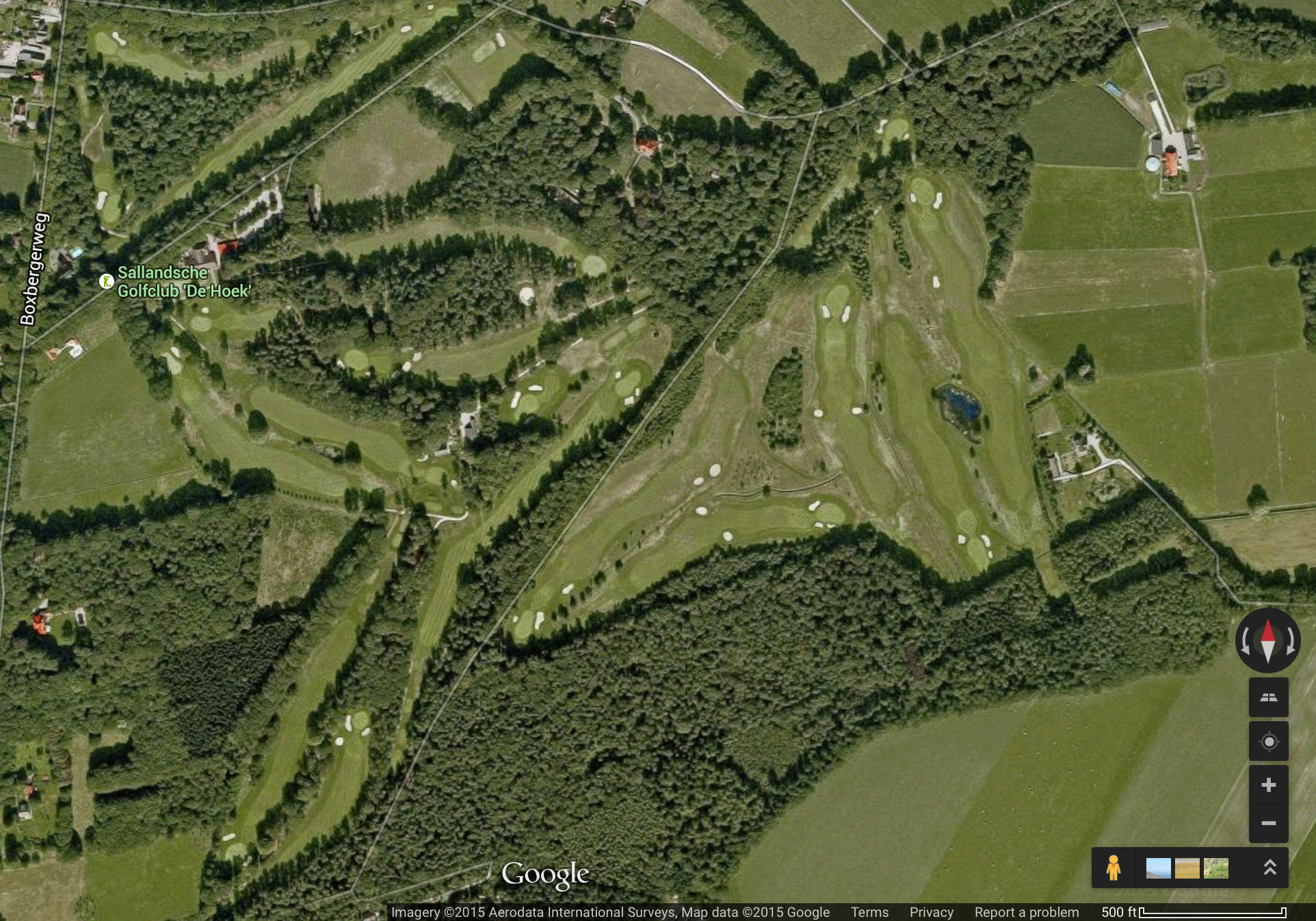 Screenshot of un-updated satellite view of Sallandsche and the old bunker scheme.