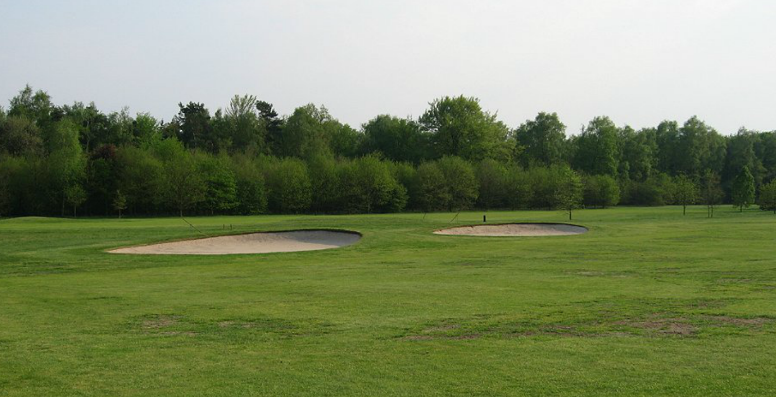 Hole 11 fairway bunkers before. The view from the tees is vast, and making something to scale would be a challenge.