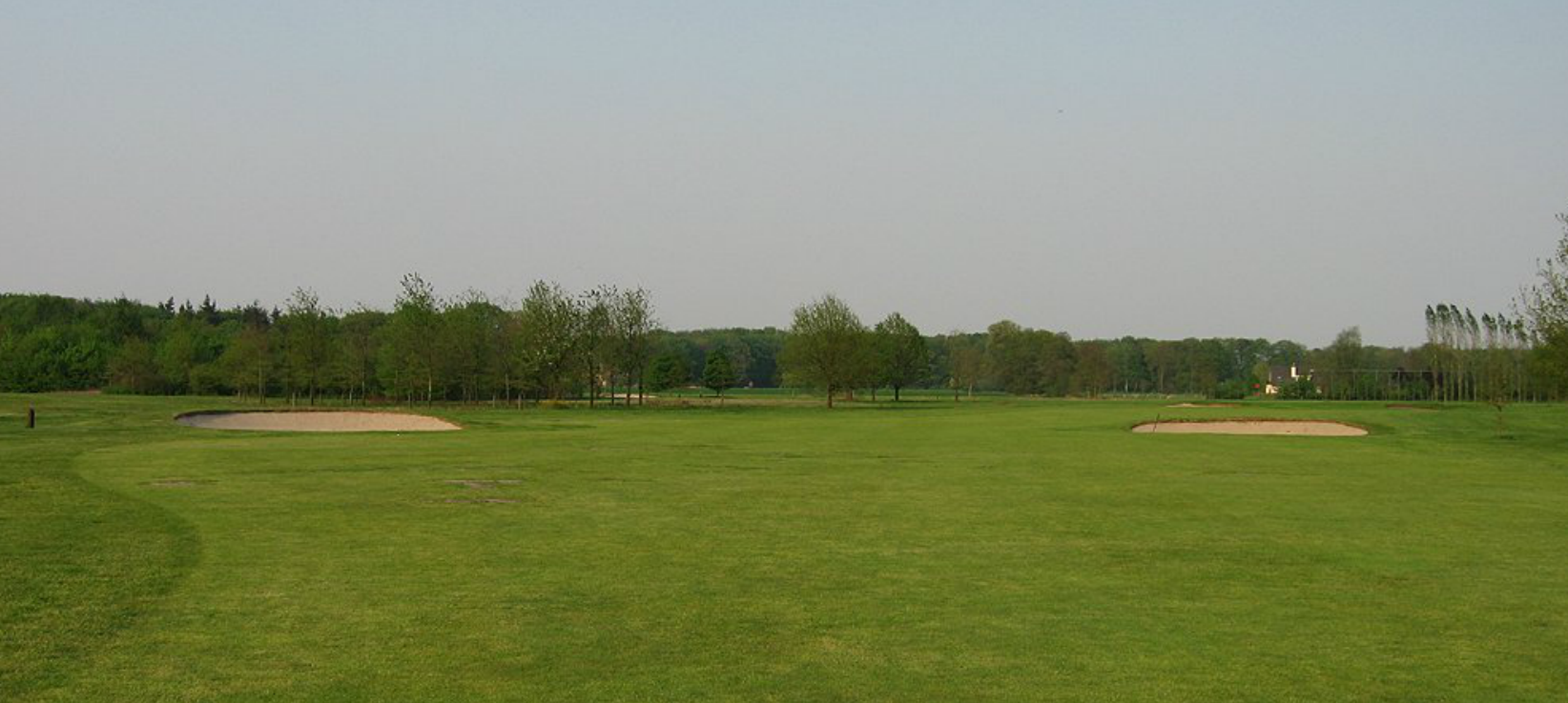 Hole 12 fairway and green before