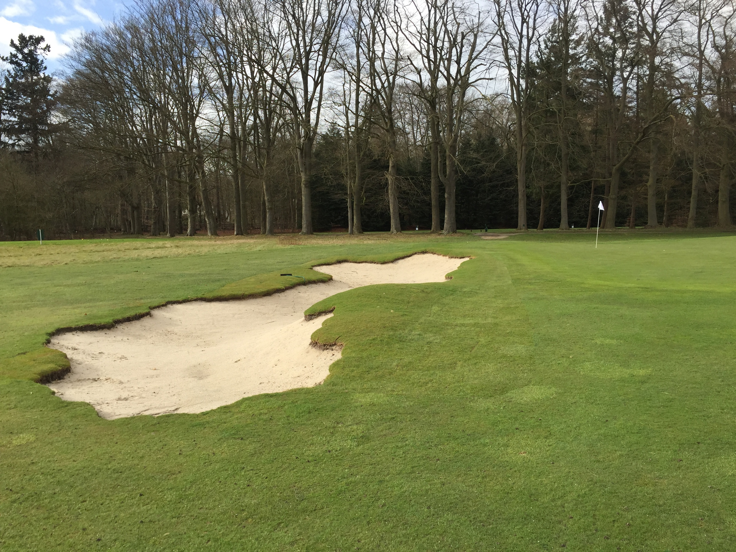 Bonus image of the 13th green bunker showing how it changes form as it isencountered