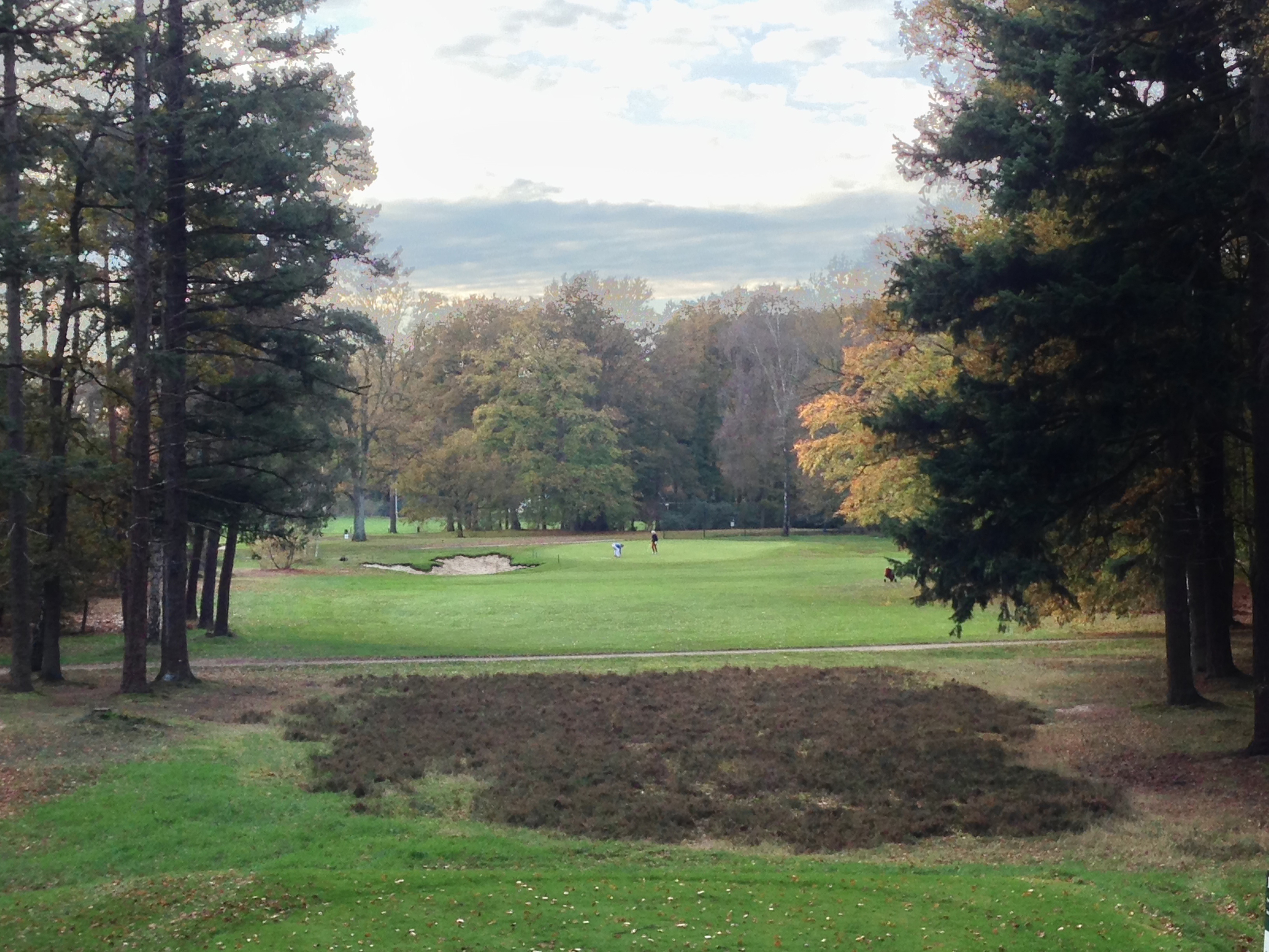 Hole 18 after from the tees.