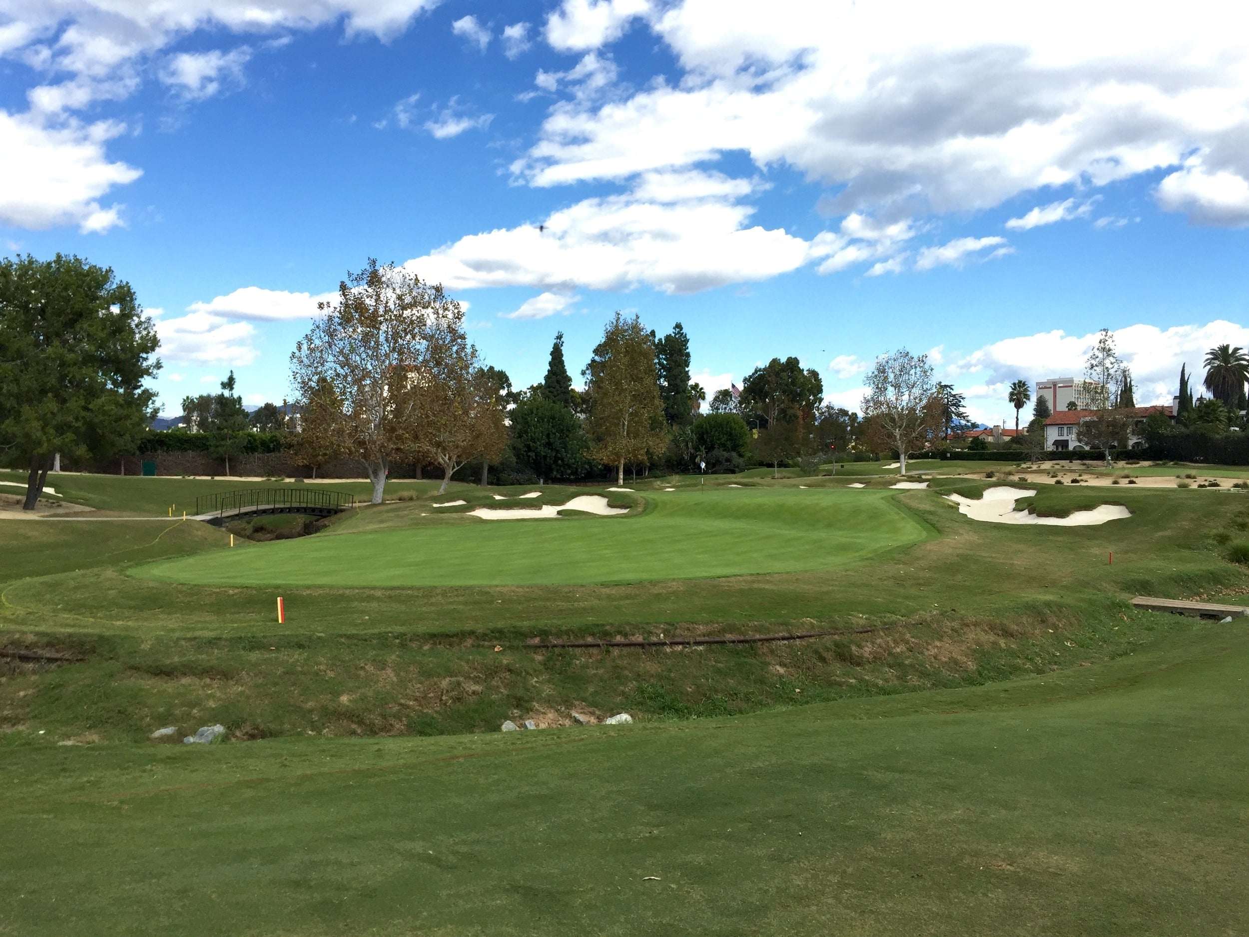The massively long 4th green at Wilshire is pure Golden Age quirk
