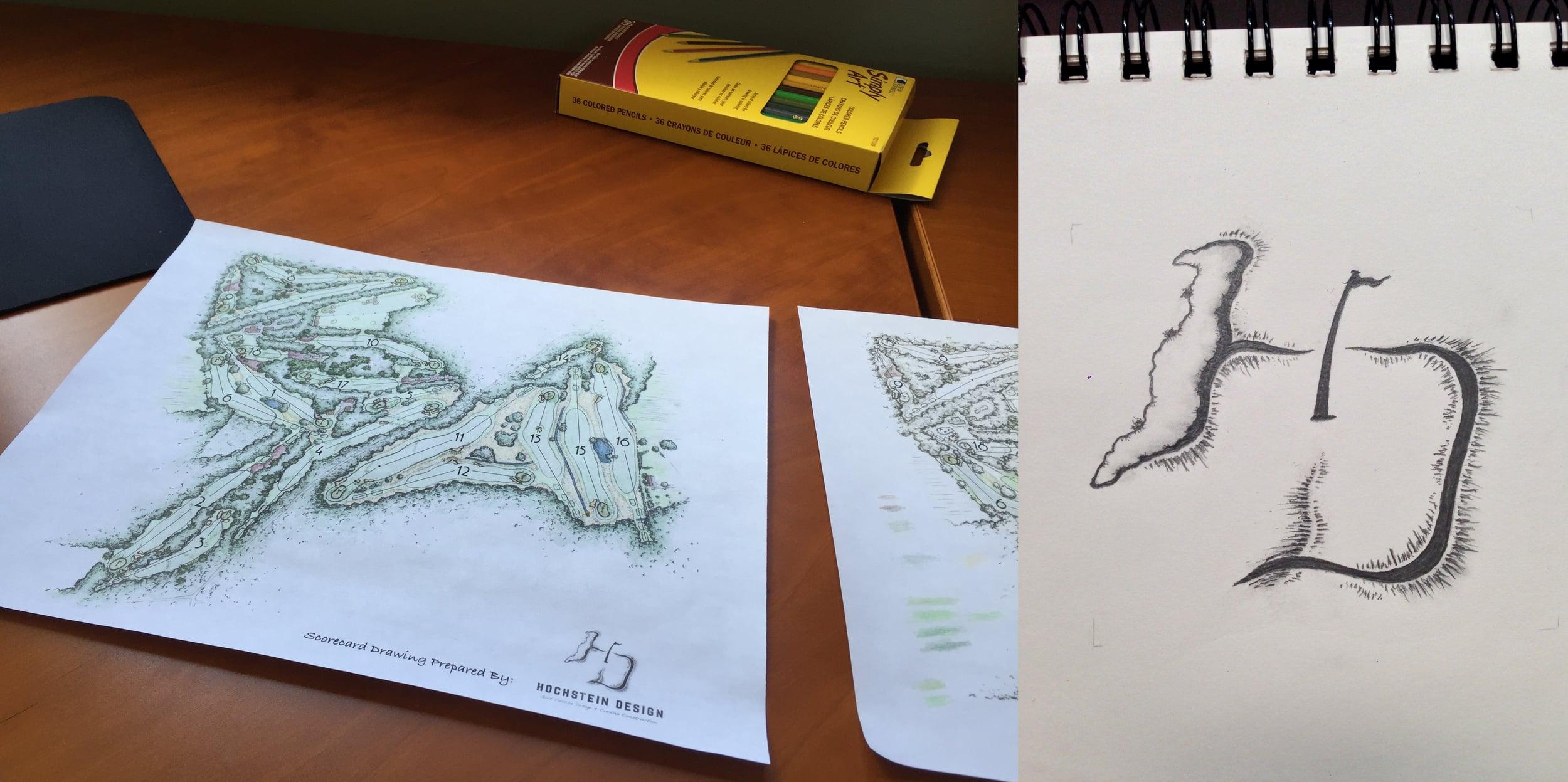Sallandsche plan drawing and logo in progress