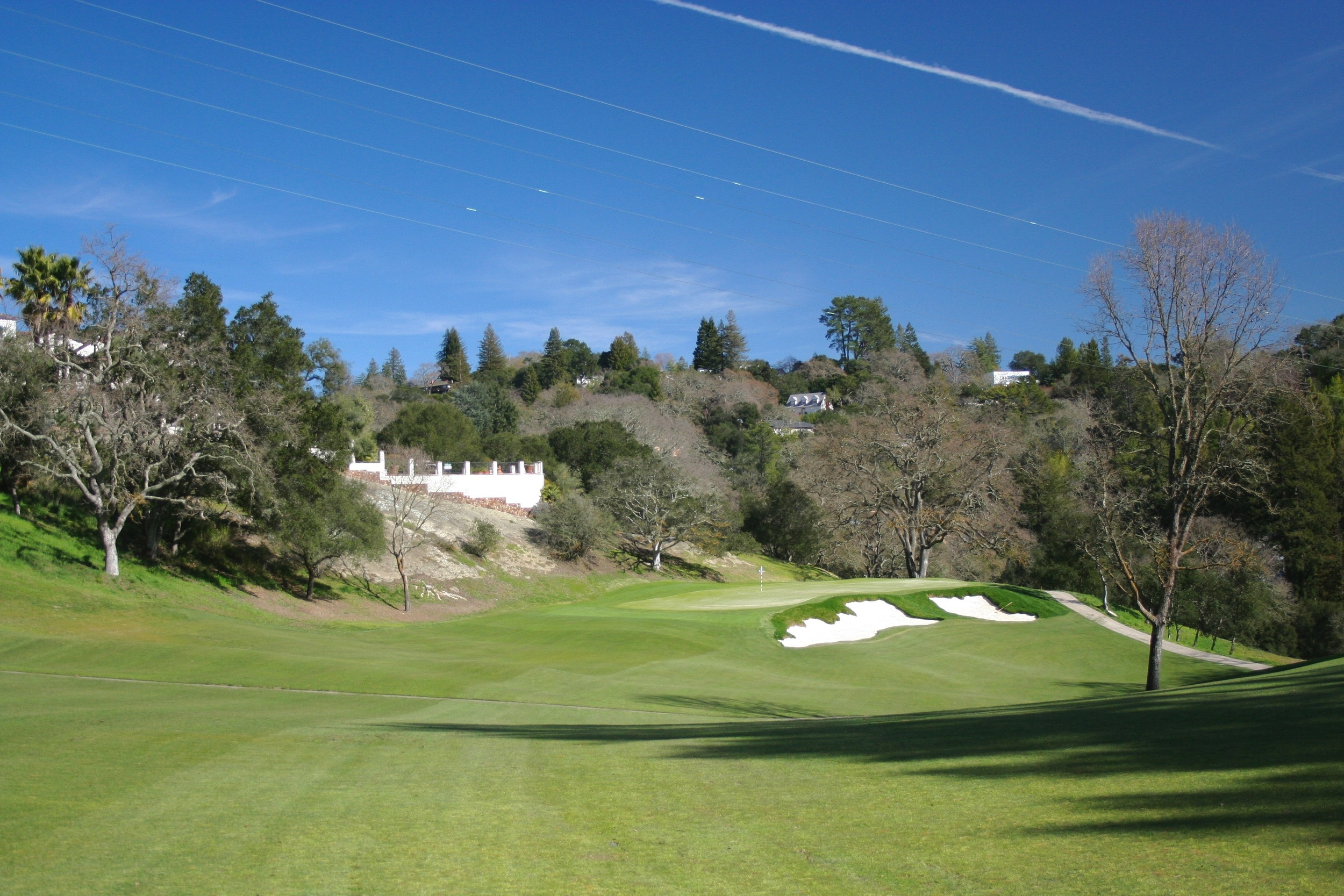 """The 4th hole, named """"Meteor"""" for the rocky outcrop next to the green, now has bunkering that fits better within both Watson's original style and the context of Golden Age Northern California golf."""