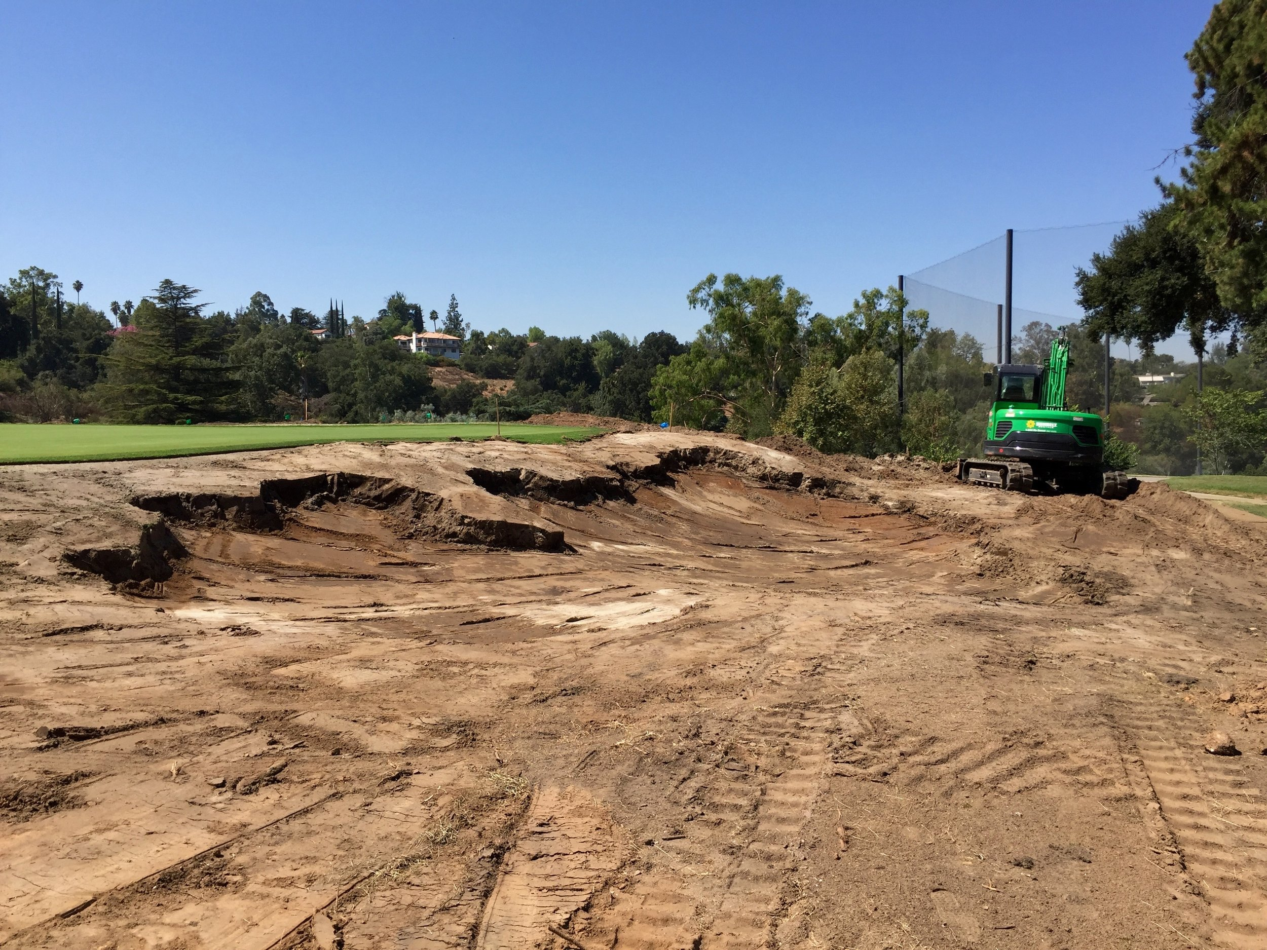 The right greenside bunker on the 4th hole needed to look right from not just the 4th fairway but also the 1st fairway, which plays right up toward it.
