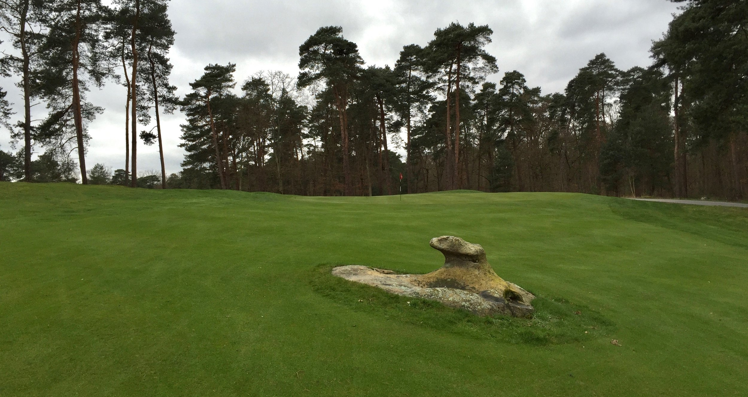 This rock is cool on its own; it's even cooler being in the middle of the fairway of a world top 100 course.