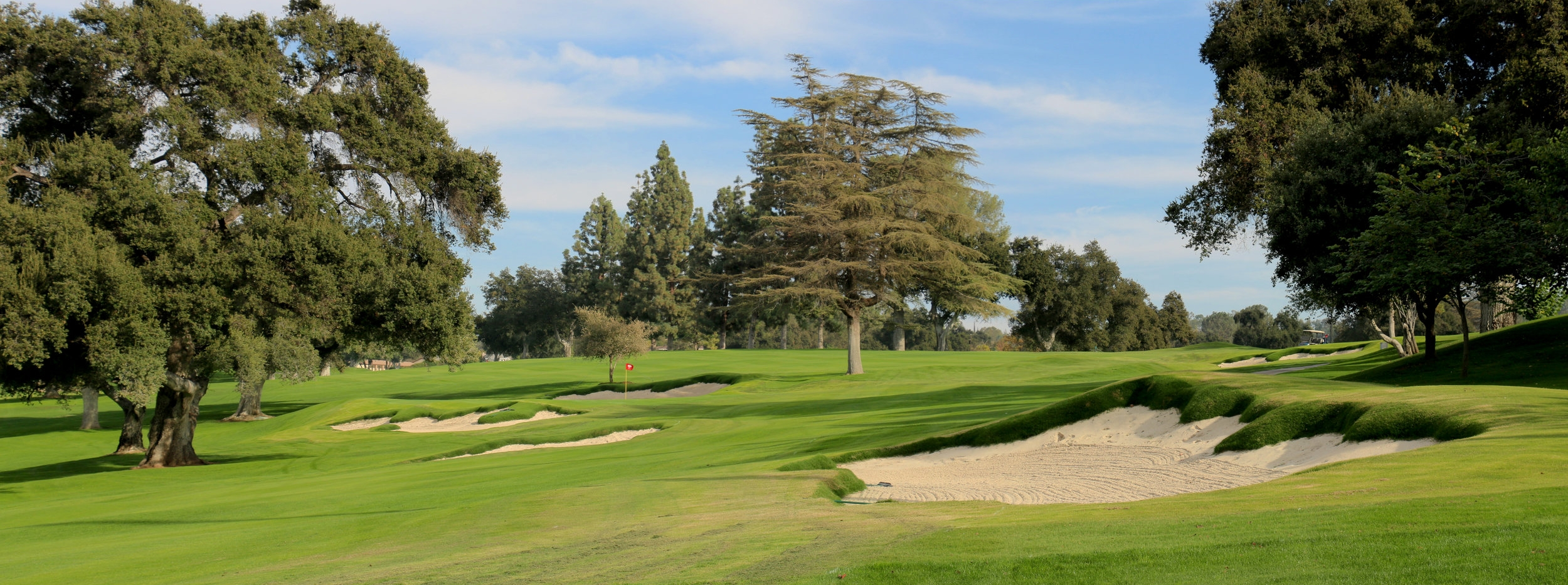 The first hole at Redlands as viewed from the best angle into the green. Image courtesy of Todd Eckenrode, Origins Golf Design.