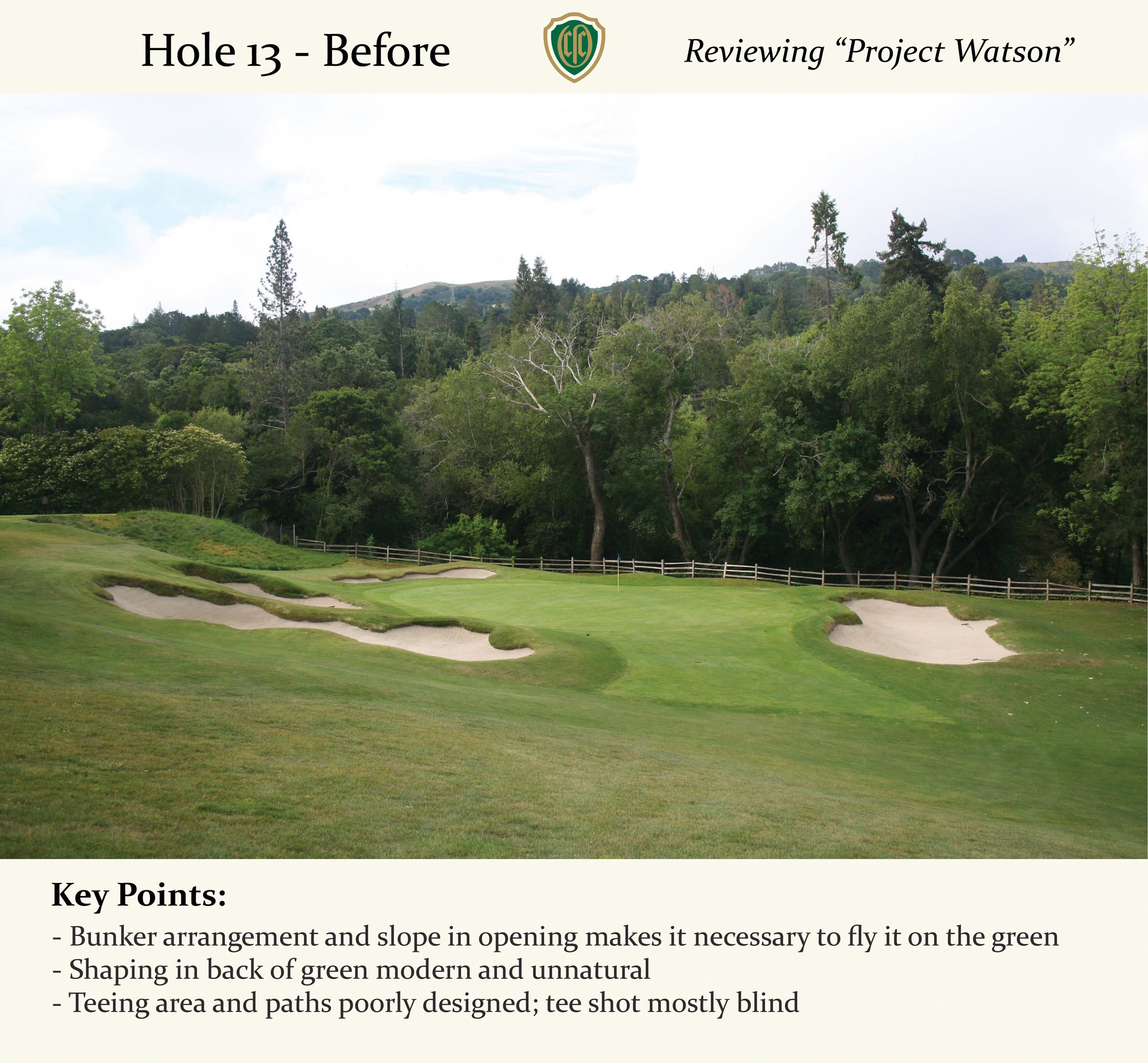 Even if you tried slotting a shot through the opening, it was likely to kick right and into the bunker.