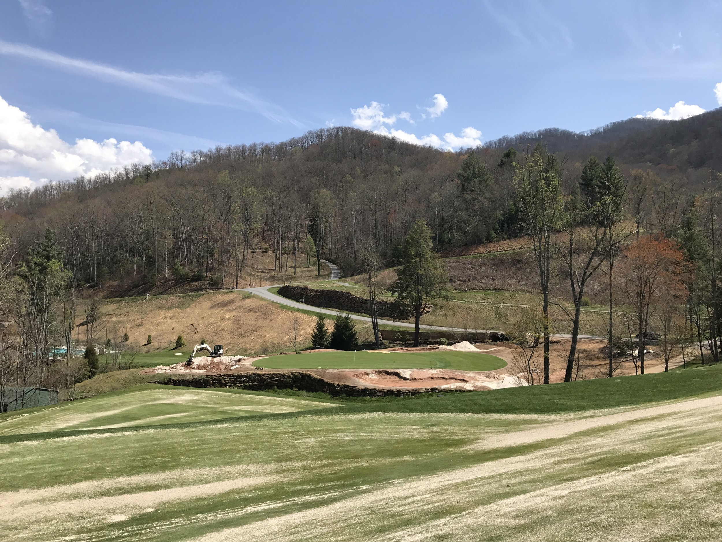 After image just as work is finishing up. The two bunkers are complete, and the 3rd on the left is getting filled in.