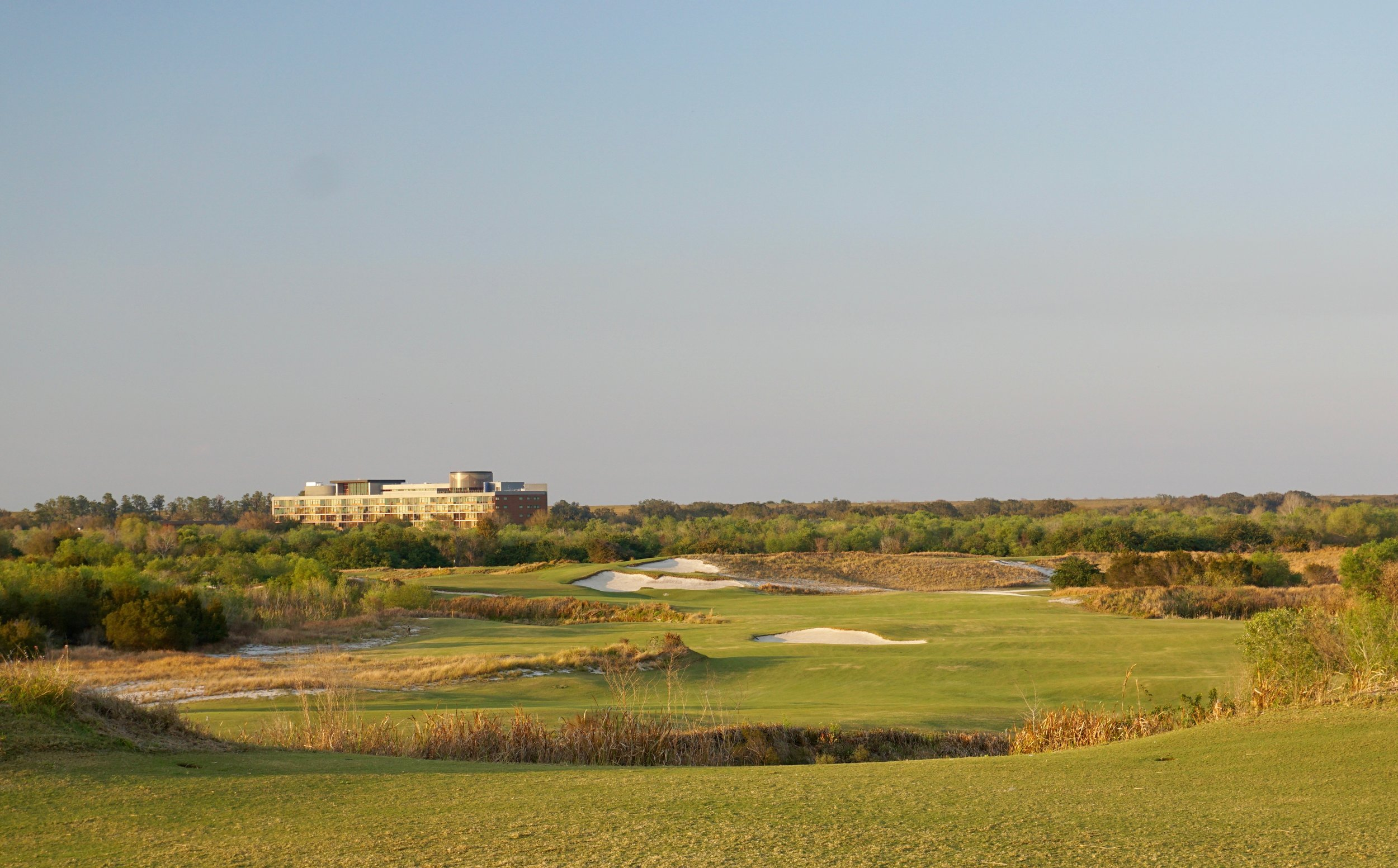 The proper line of play at Streamsong Blue is often unclear and determined by your own abilities and level of agression, and that is what I loved most about it.  This is the tee shot on the 8th.