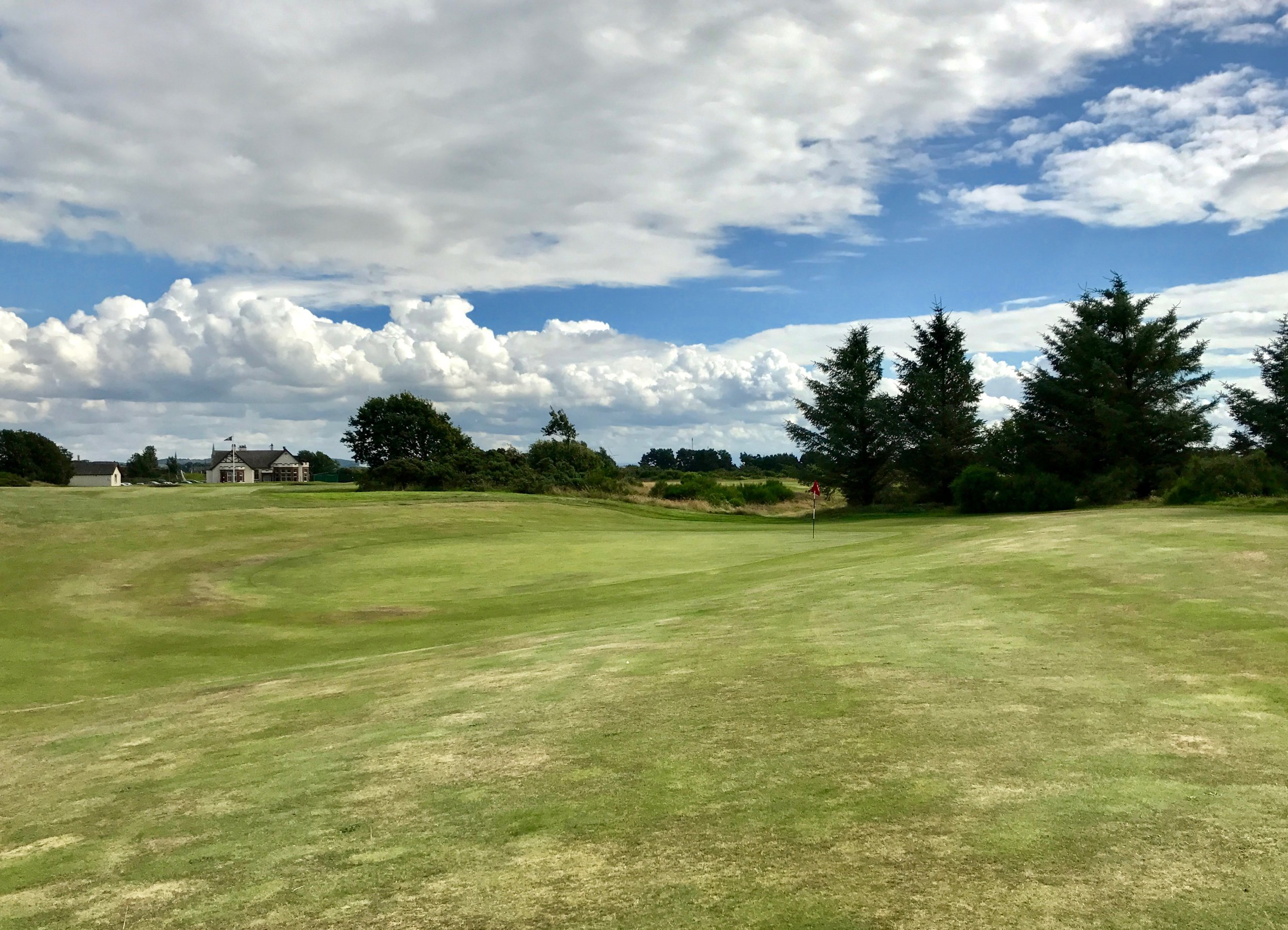 Irvine Bogside also had a couple of really cool greens.  The one that stood out most to me was this saddle green at the 17th.  It reminds me a lot of some of the greens at High Pointe the way it sweeps and fits with the land.