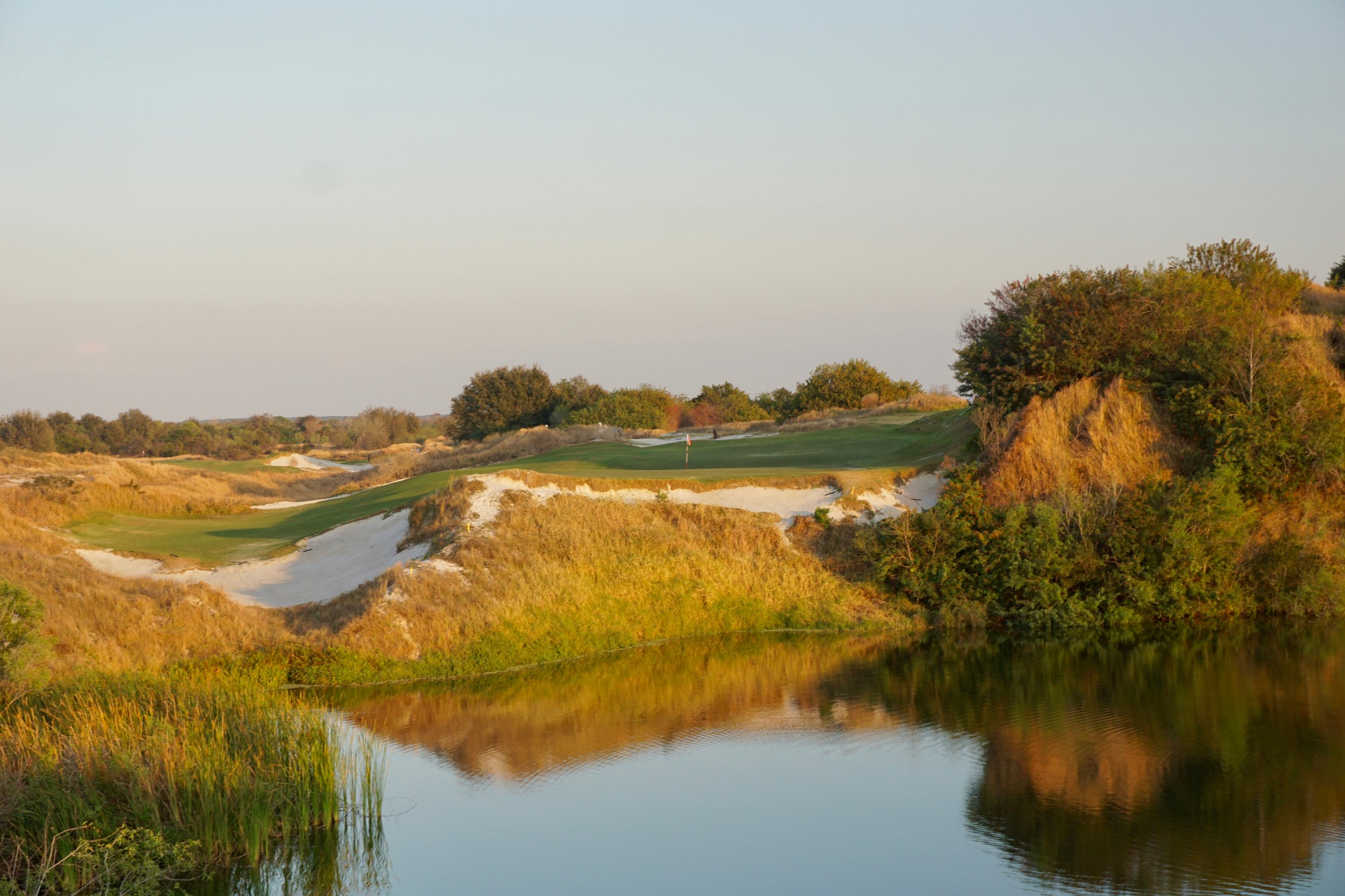 The Red Course's bunkering is varied and beautiful in how it fits the unique landscape of Streamsong.