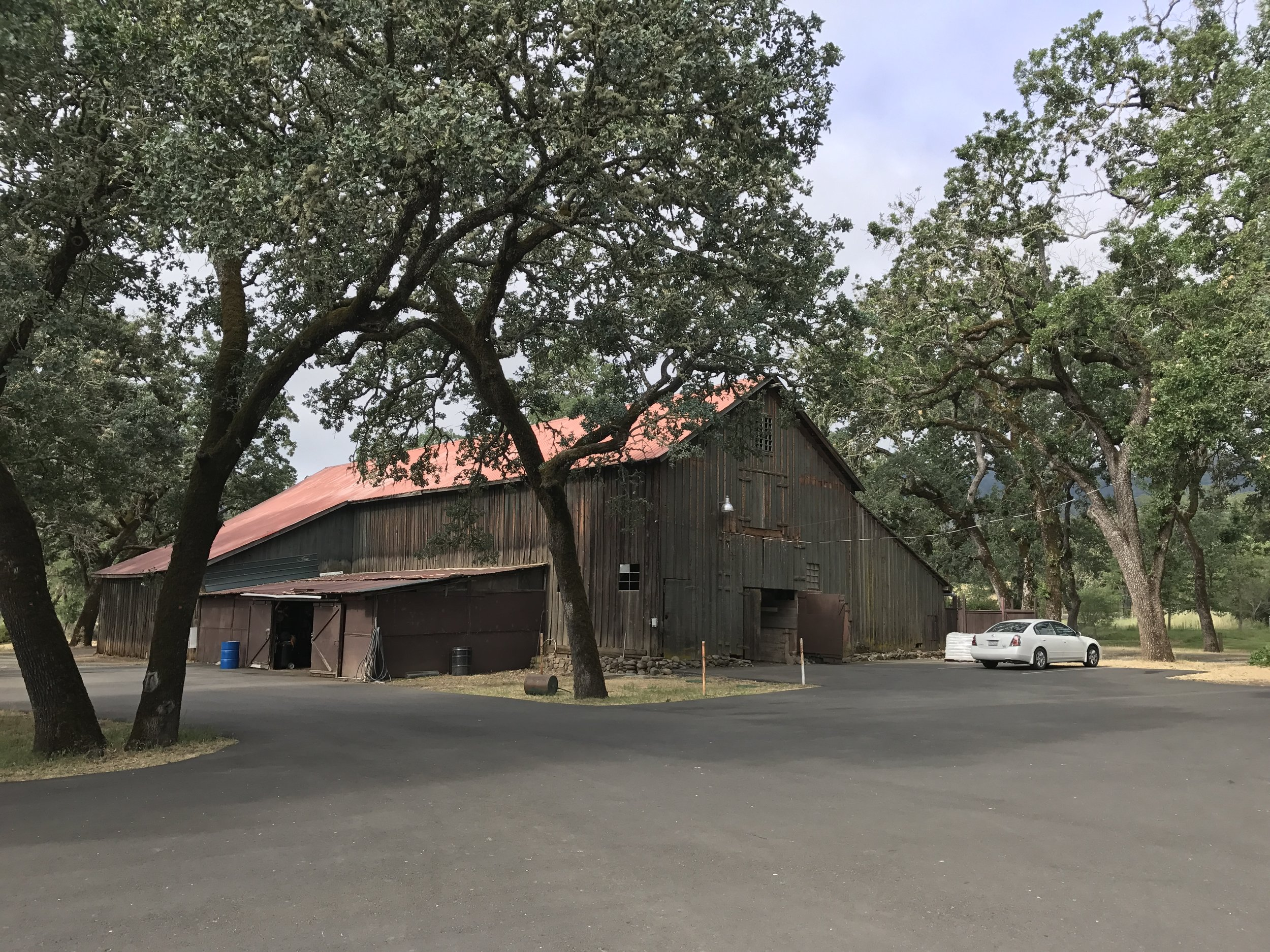 The repurposed cart barn at Aetna Springs