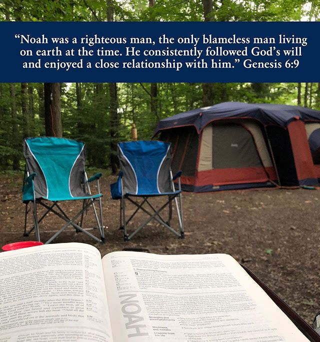 "I'm camping with my family and enjoyed some peaceful reading this morning 📖 And this verse just blew my mind!! Noah was the ONLY one to follow God at that time. Like how crazy is that?! 🤯  He didn't have friends to lean in on for advice when he was going through struggles. He didn't have anyone to ask to pray for him. He didn't have others to ""make a joyful noise"" with and worship together. 😢  Praise God he still made the choices he did and that we are all here because of it, but today I was reminded of how BEYOND grateful I am for my local MOPS group that helped me get through postpartum depression a few years back and continues to help me become a better mother for my girls 🙌🏻 ********************************* If you haven't joined a MOPS group and are able to fit it into your schedule, I strongly encourage you to take that one step of bravery to get connected. To let your fellow mommas welcome you into a group of support, acceptance, and love...where you realize, just like Noah, we all sin as parents, but we pull the focus back to following God's will for our families ❤️👨‍👩‍👧‍👧 Or if you work during the day, but are local to DuBois, please reach out 😊 I'd love to get you connected to a life group like the one Sam & I lead with other parents, doing life together 👫 @tcconline.tv"