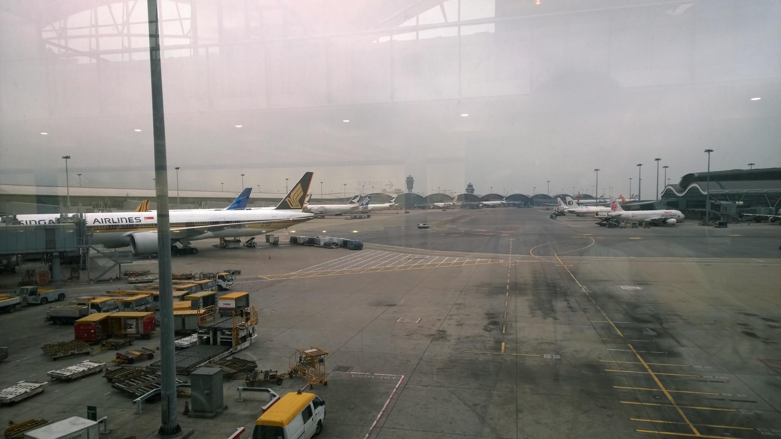 Arrive at HK International Airport