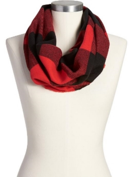 Old Navy Women's Plaid Flannel Funnel-Neck Scarves $12