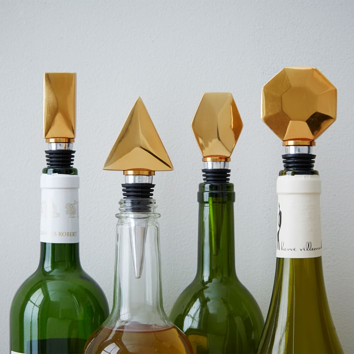 West Elm Geo Bottle Stoppers $49