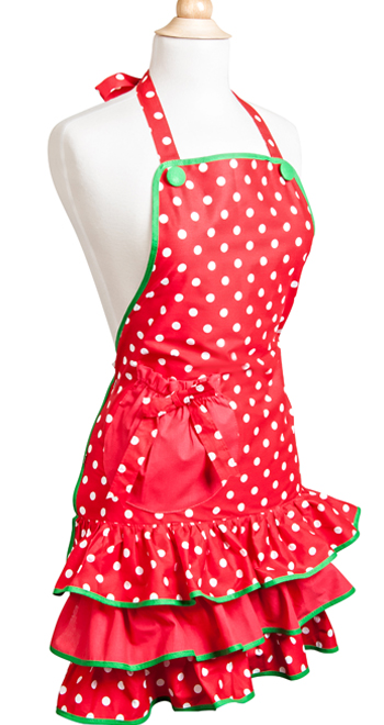 Women's HOLIDAY Deck the Halls Apron $30