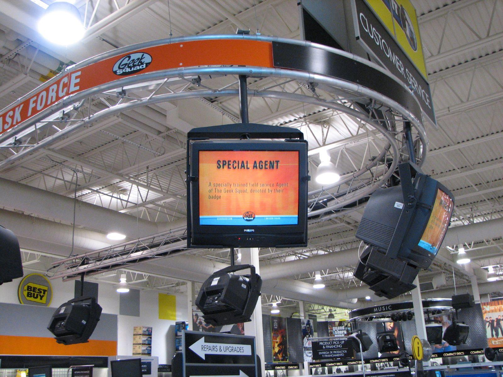 Video Loop & Overhead Signage